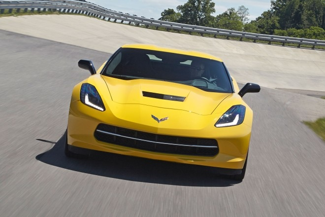 2015 Chevrolet Corvette Stingray Front View In Motion Track 1 660x440