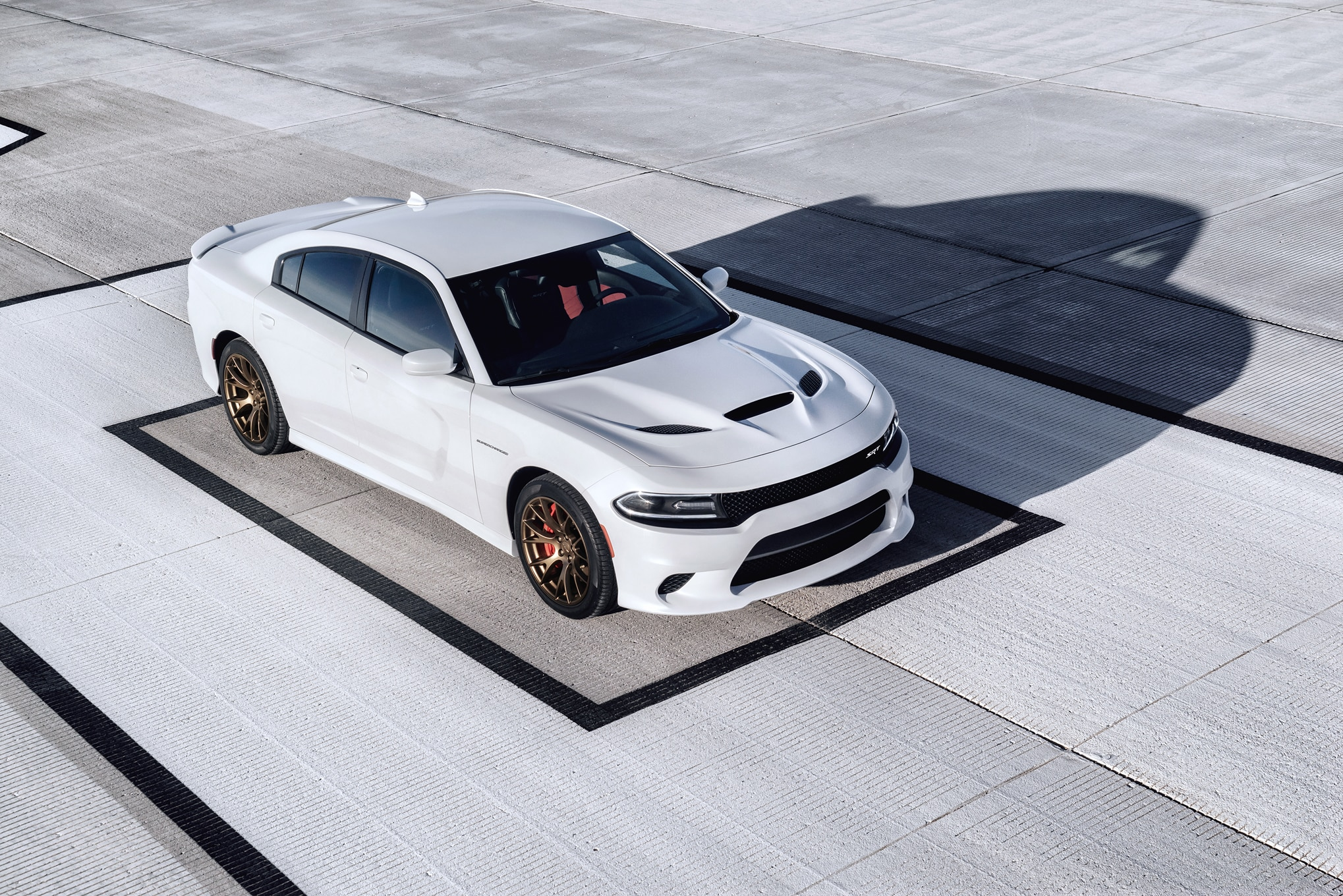 2015 dodge charger srt hellcat top view front three quarter - 2015 Dodge Charger Srt Hellcat
