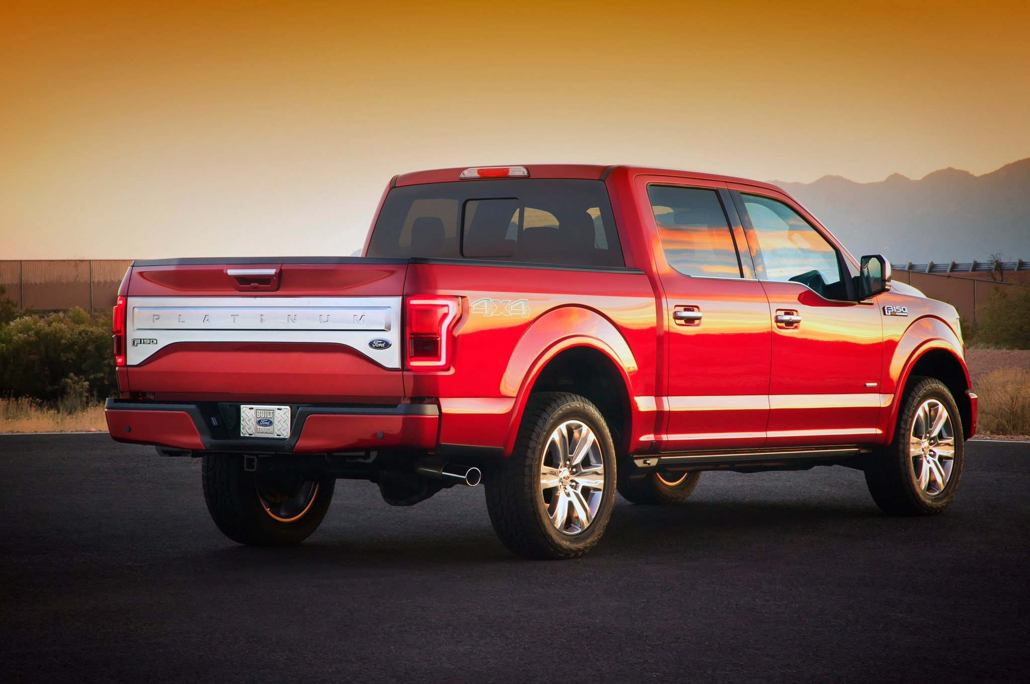 2015 Ford F 150 Platinum Rear1