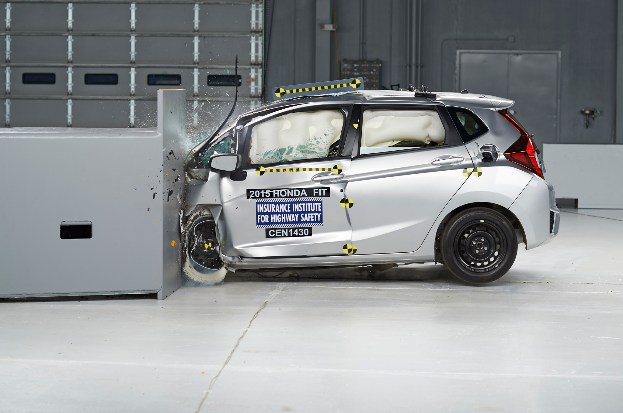 2015 Honda Fit IIHS During Test1
