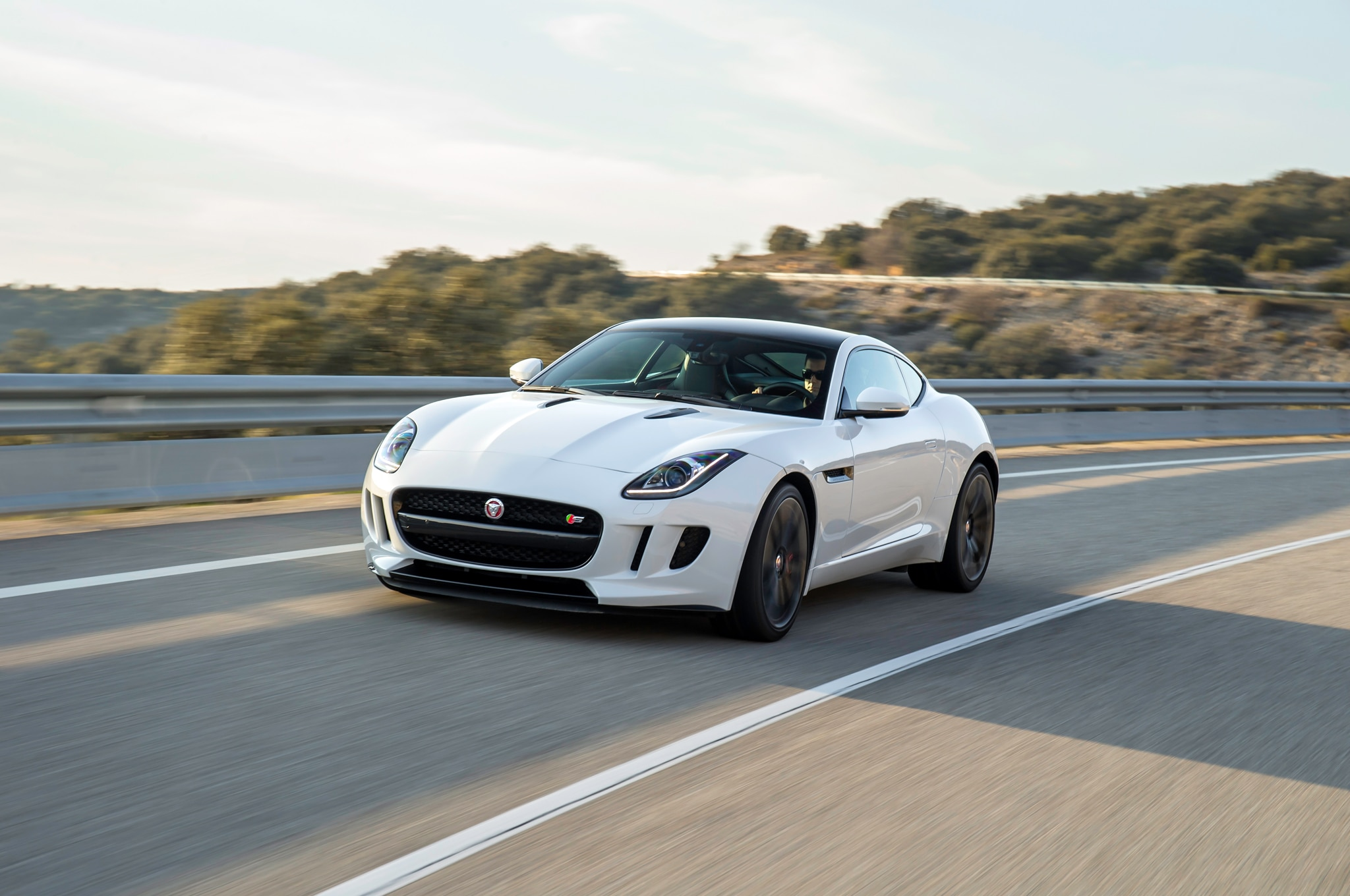 2015 Jaguar F Type S Front End In Motion