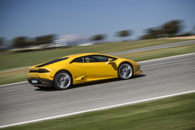 2015 Lamborghini Huracan LP 610 4 Track Yellow Rear Three Quarters1 660x440