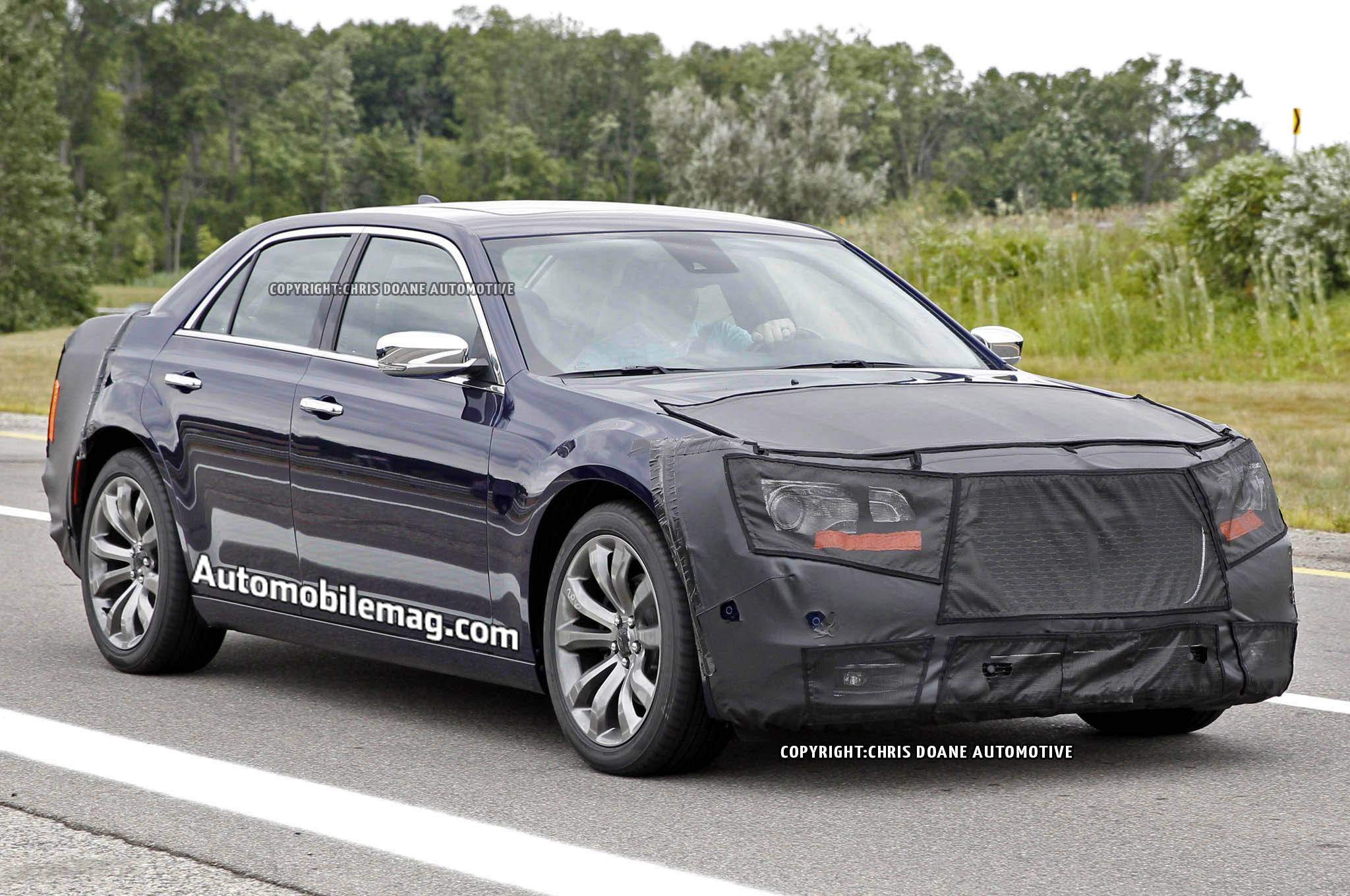 2015 Chrysler 300 Spied Front Three Quarter 11