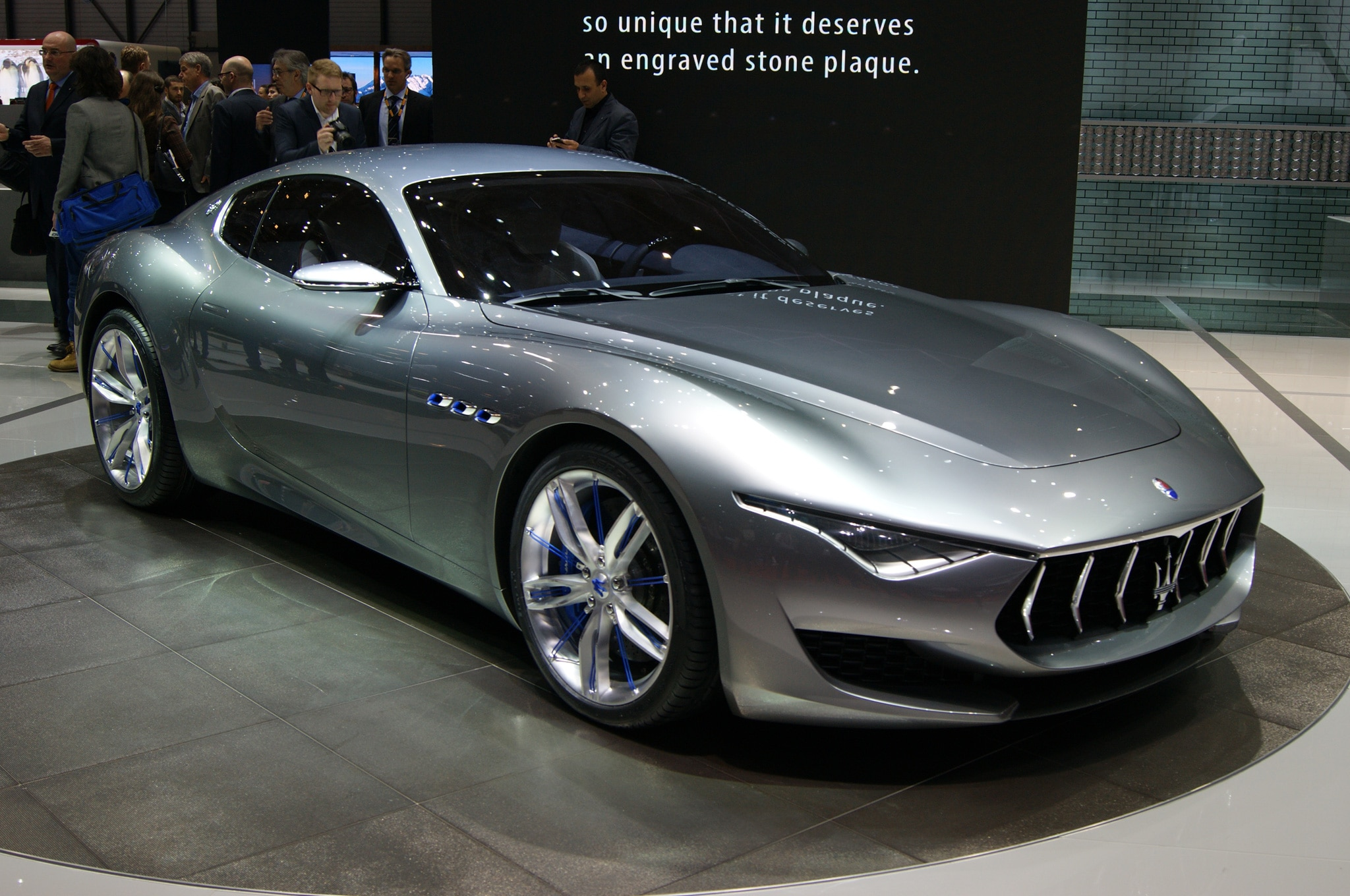 Maserati Alfieri Concept Show Floor Front Side View1
