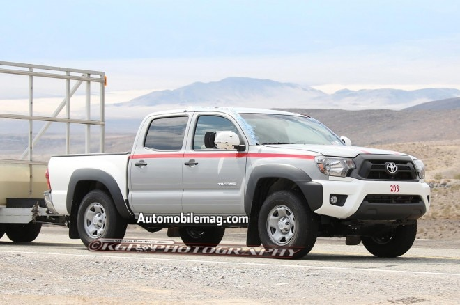 Toyota Tacoma Prototype Spied Front Three Quarter 21 660x438