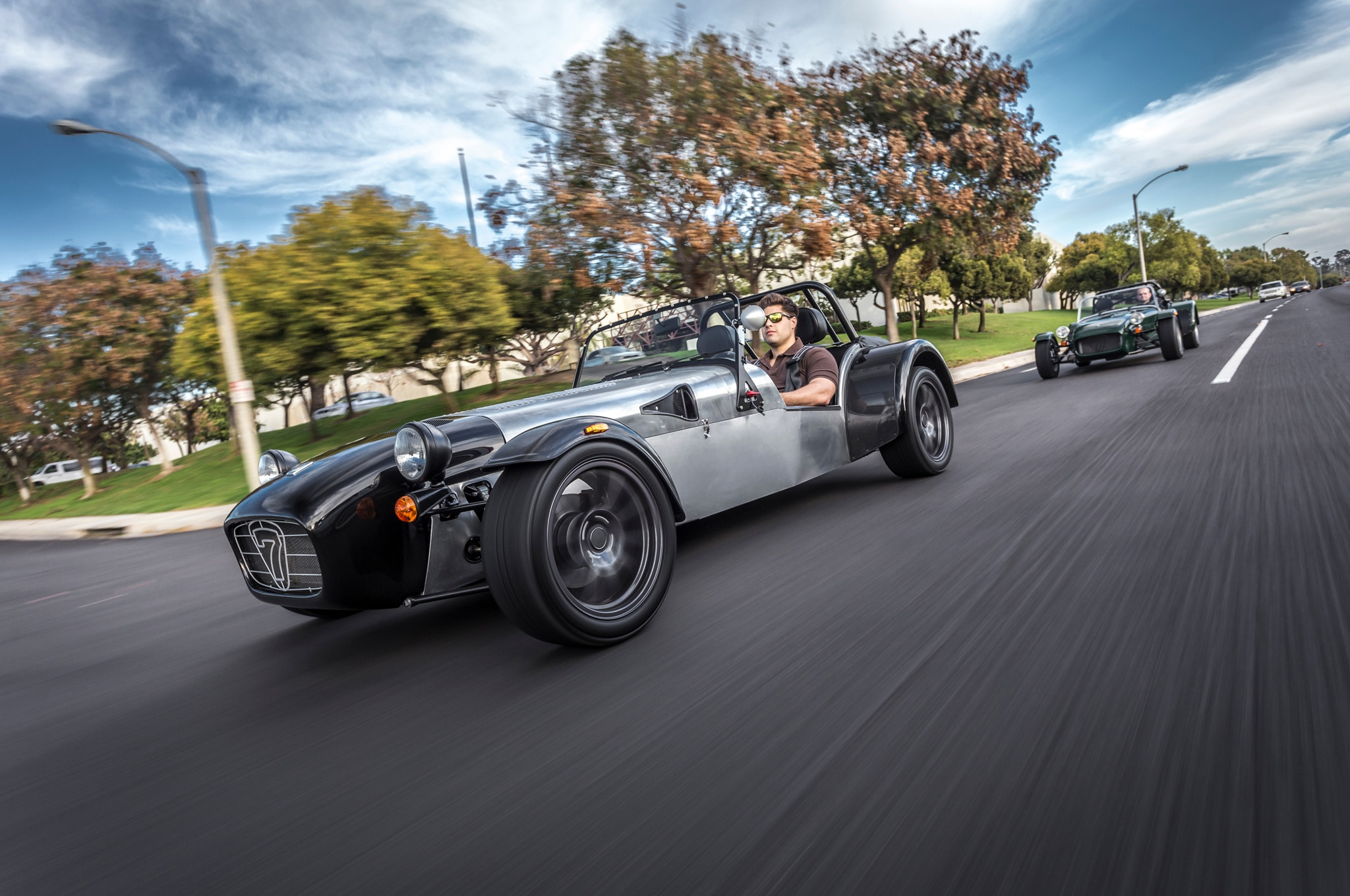 Caterham Seven In Motion