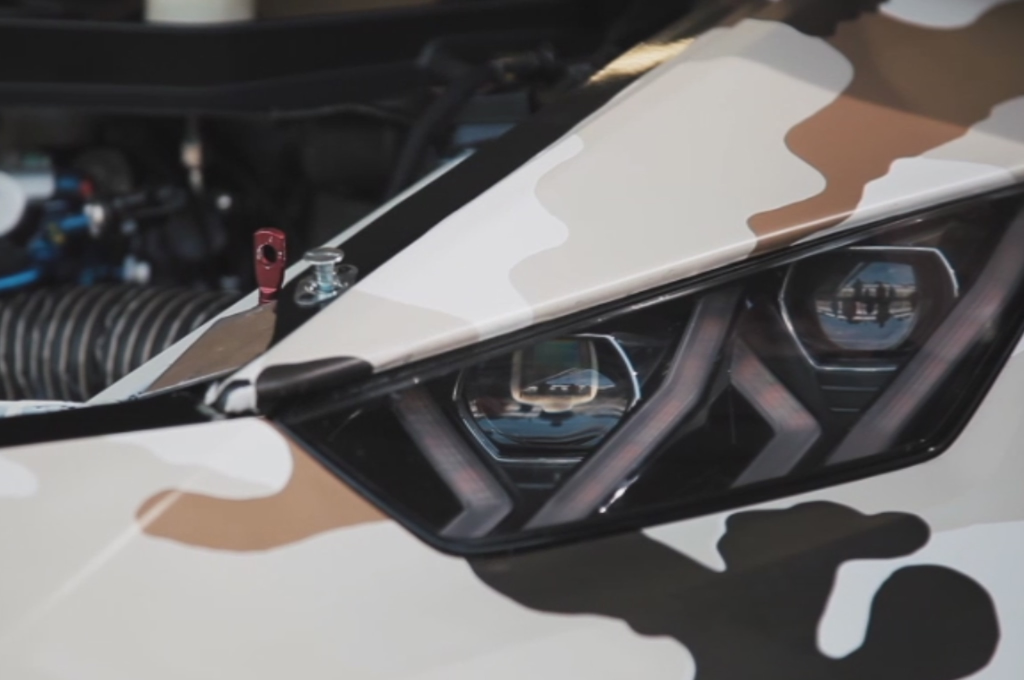 Lamborghini Huracan Super Trofeo Teaser Video Headlight1