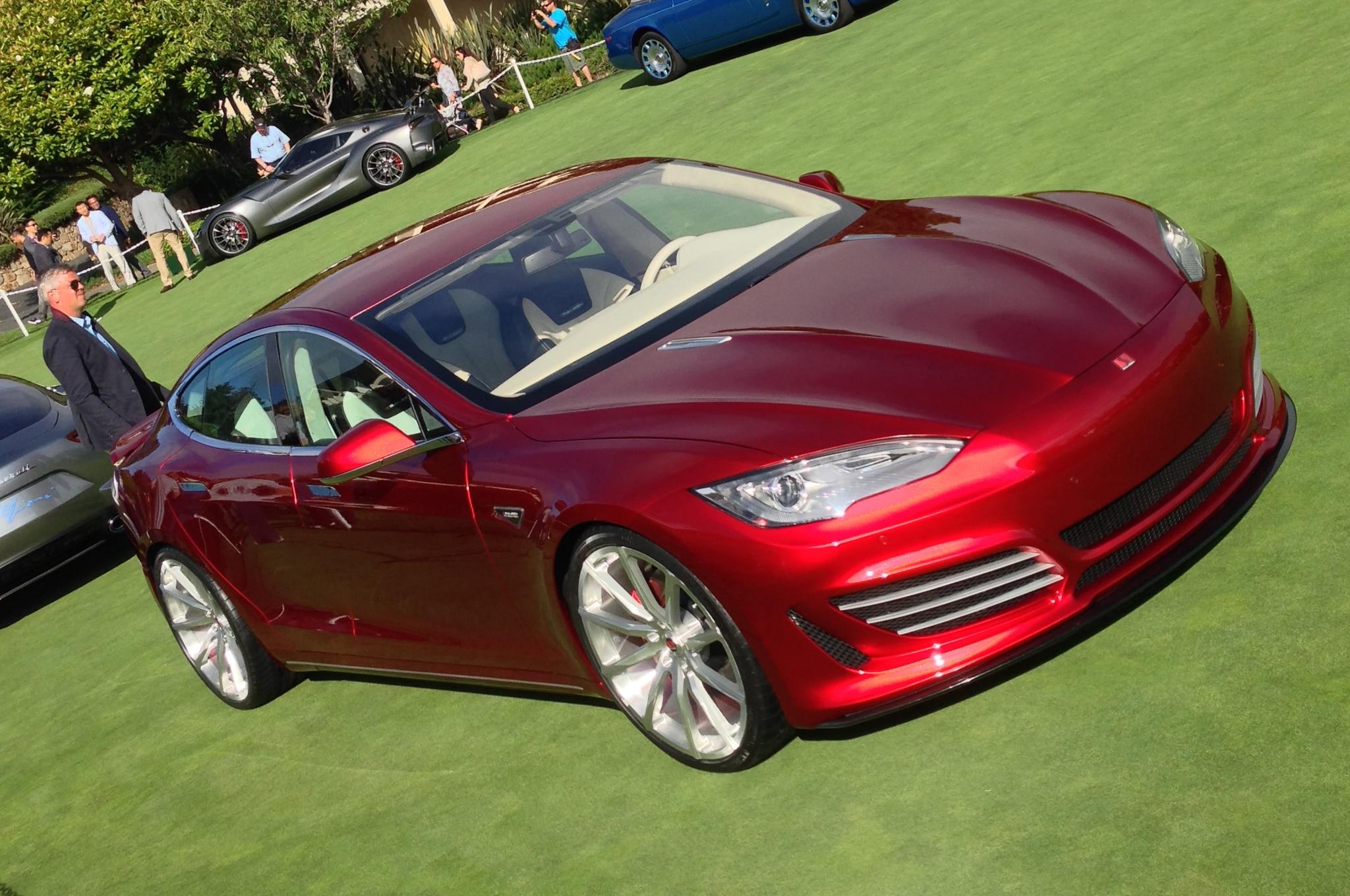 Saleen Tesla Sixteen Front Three Quarter