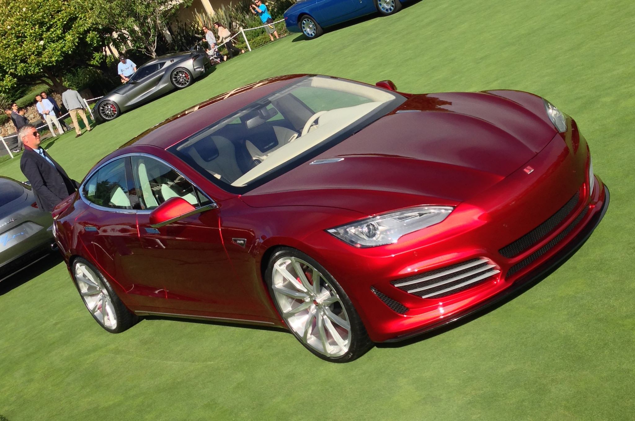 Saleen Tesla Sixteen Front Three Quarter