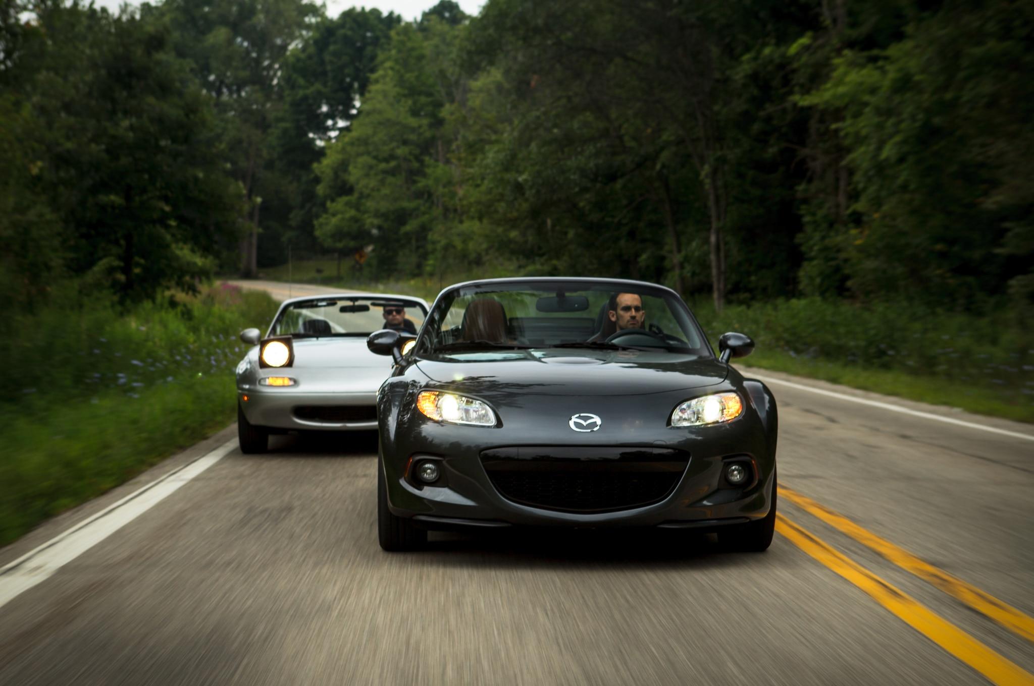 1991 Mazda MX 5 Miata 2014 Mazda MX 5 Miata PRHT GT Front End