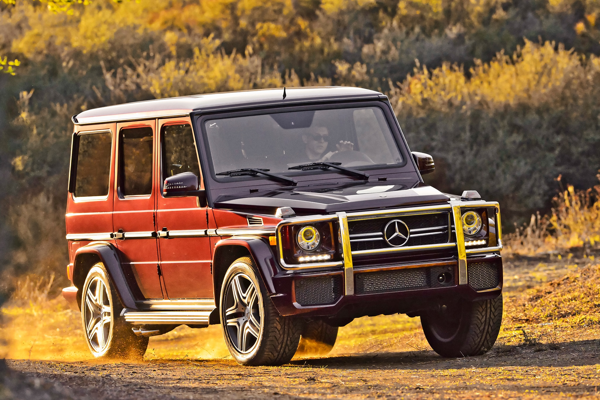 2014 Mercedes Benz G63 AMG Three Quarters View Offroad1