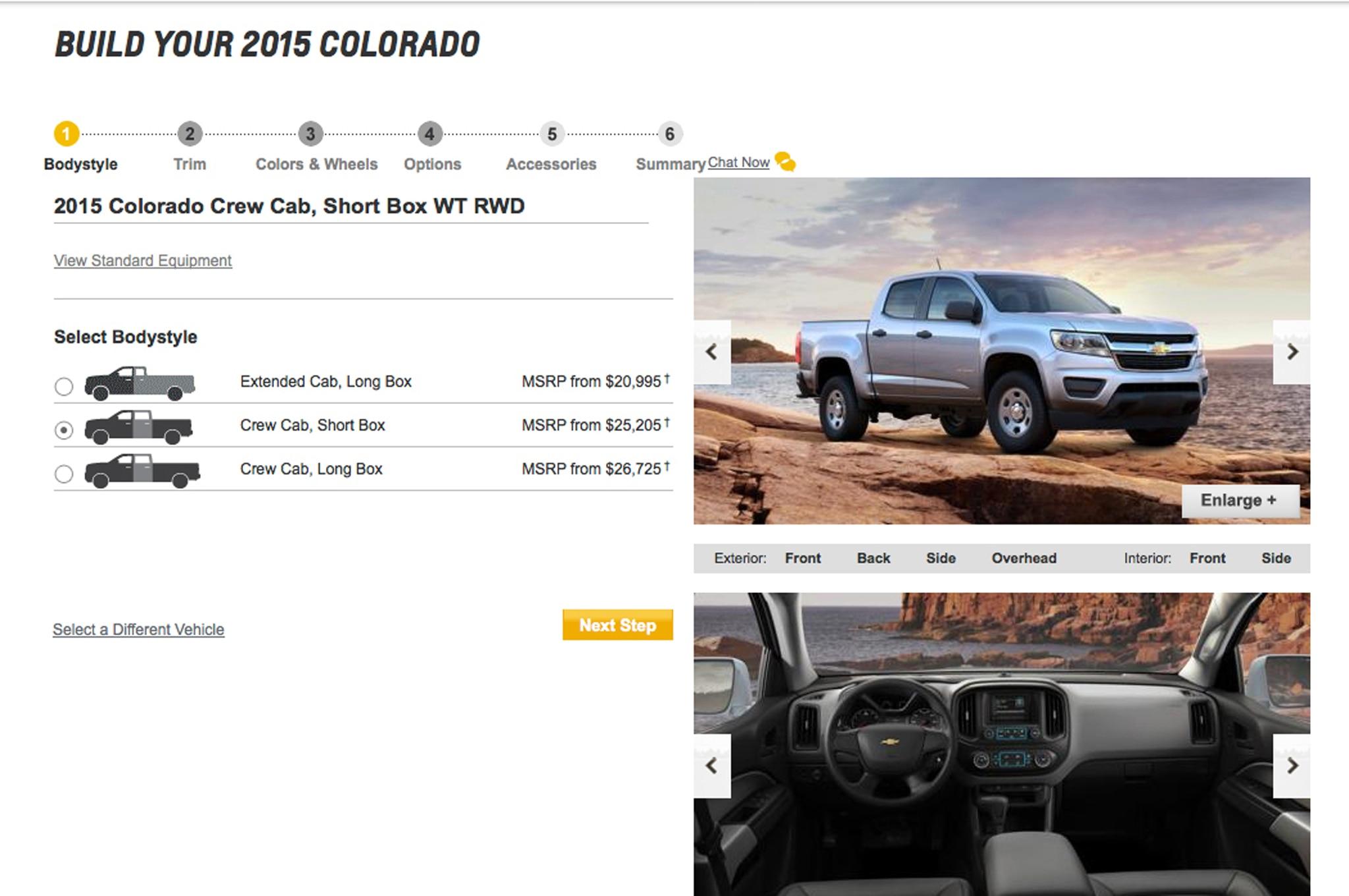 2015 Chevrolet Colorado Build Your Own