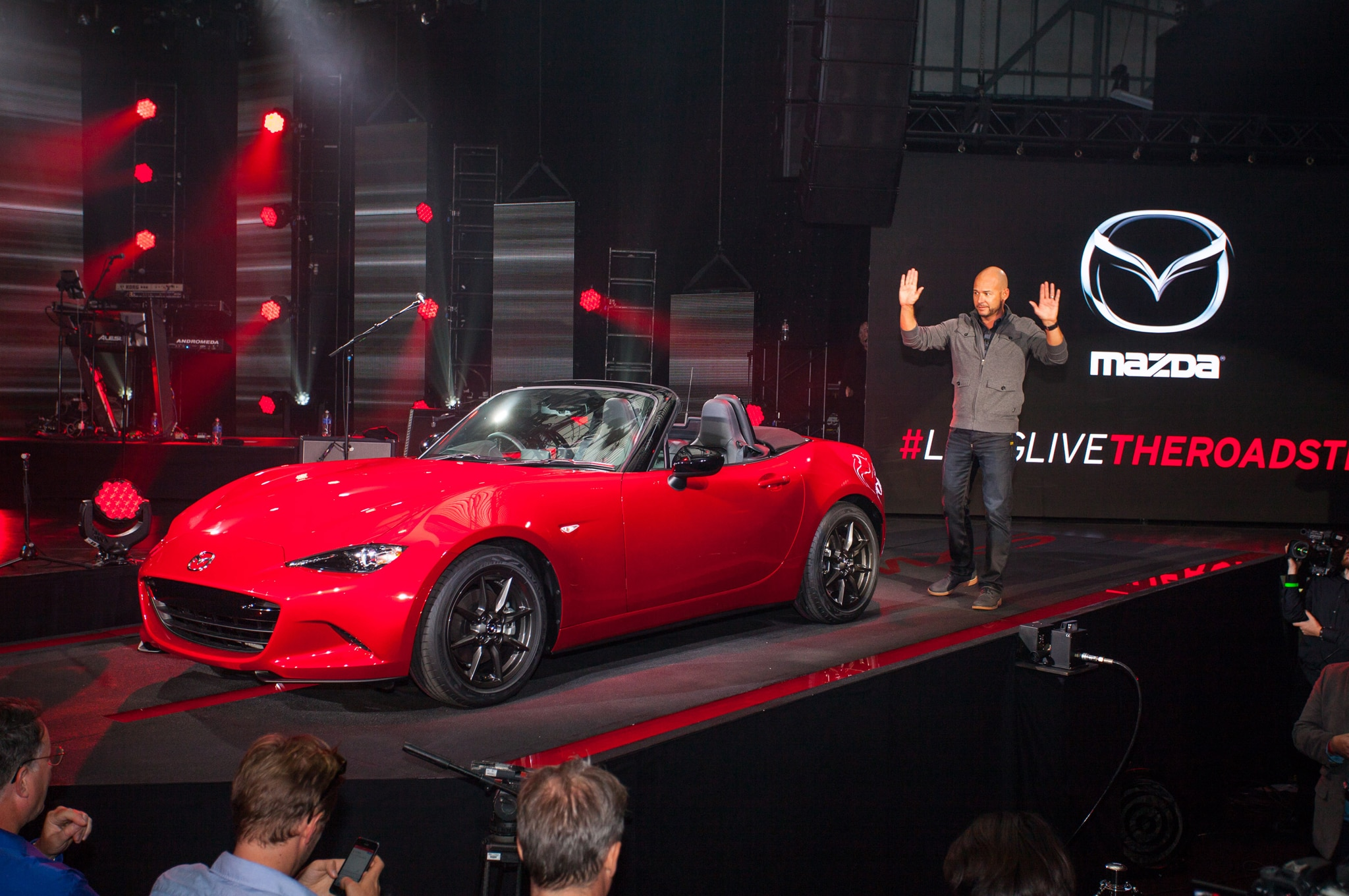 2016 Mazda Mx 5 Miata Live Reveal Front With Derek Jenkins2