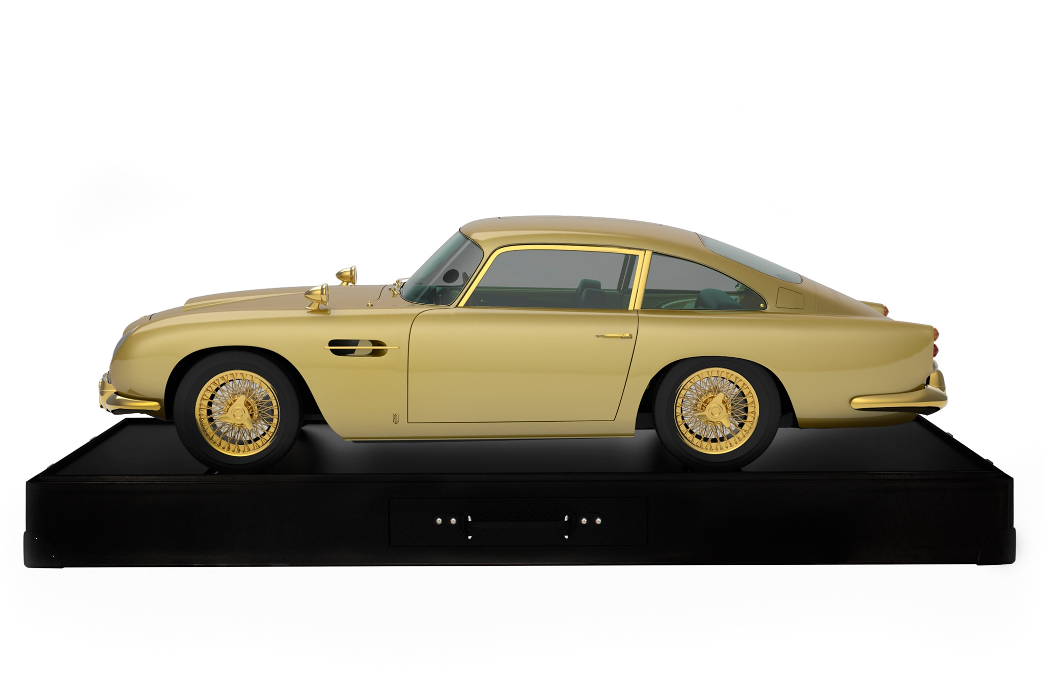 Gold Aston Martin Db5 Model Honors 50 Years Since Goldfinger
