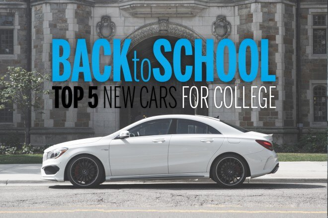 Top 5 New Cars For College 2014 Cla 45amg Side 660x440