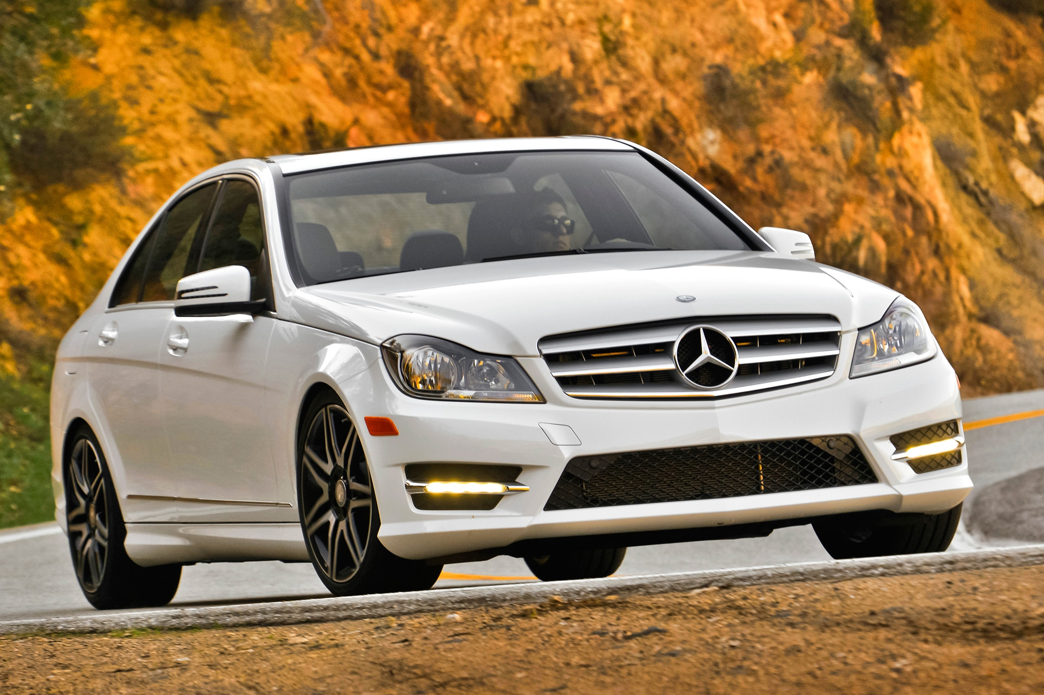 2013 Mercedes Benz C300 4MATIC Front View In Motion 11