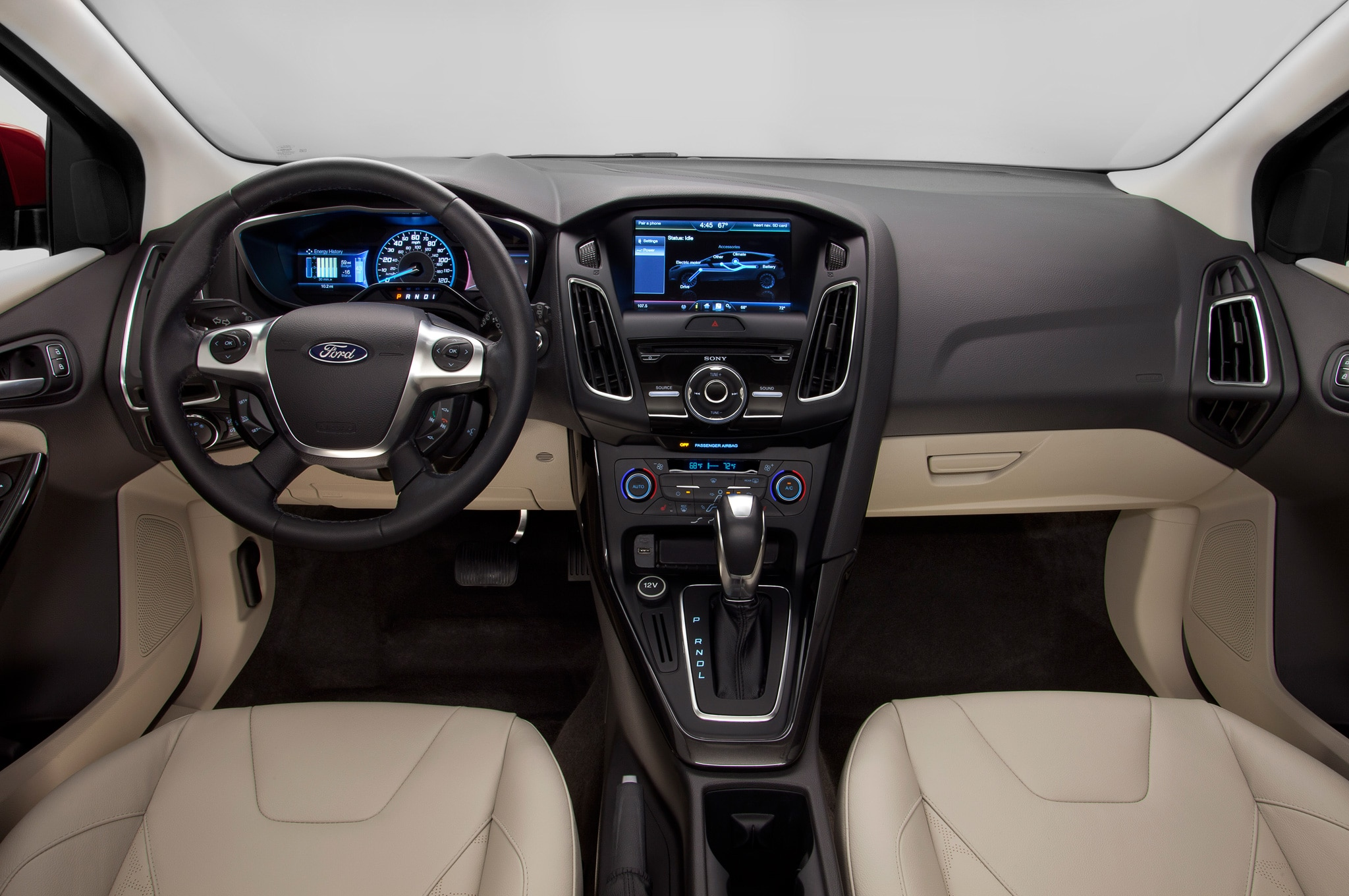 2015 ford focus electric interior wider view