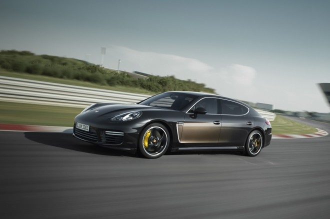 2015 Porsche Panamera Exclusive Series Front Three Quarter In Motion 660x438