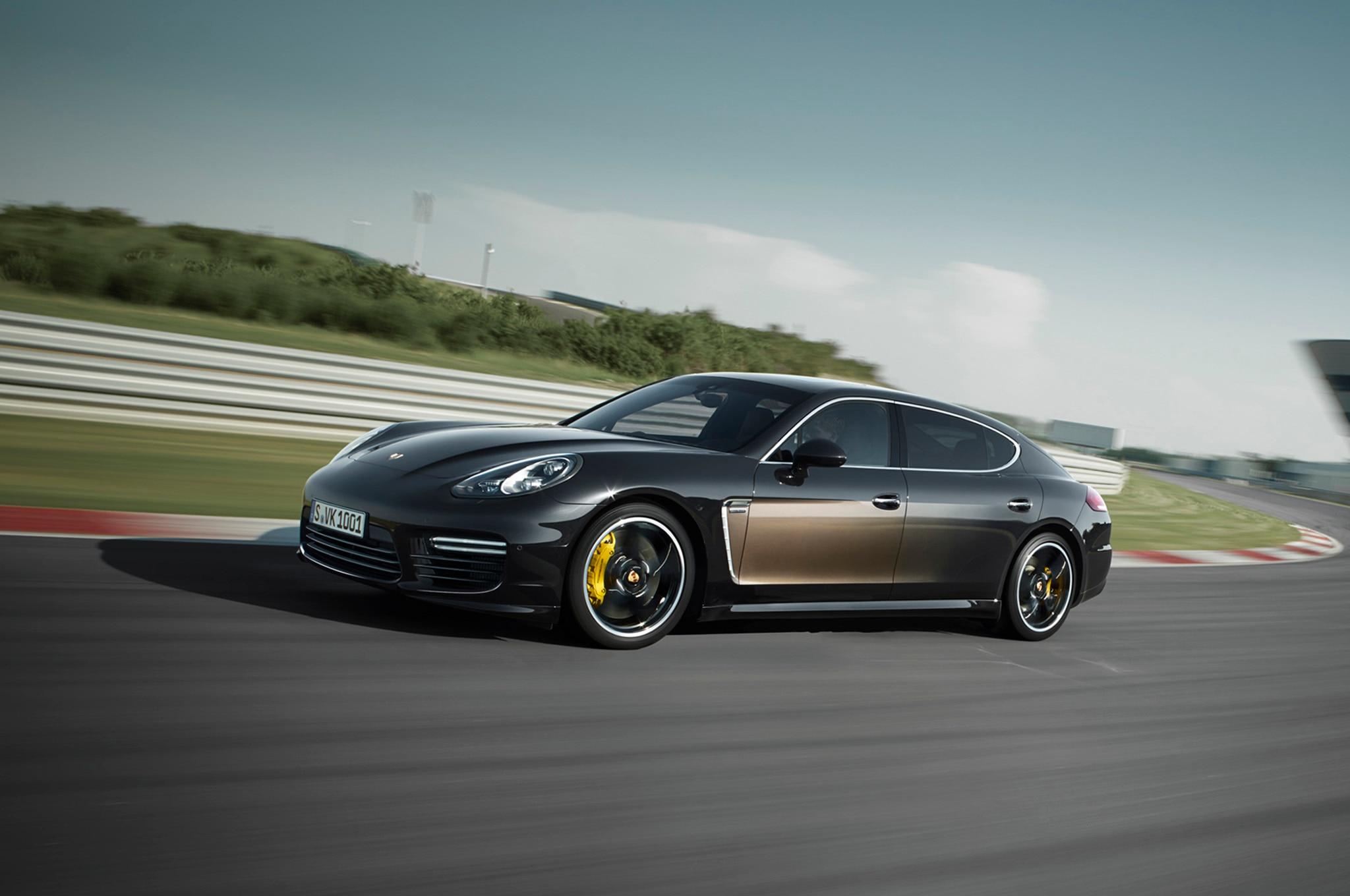 2015 Porsche Panamera Exclusive Series Front Three Quarter In Motion
