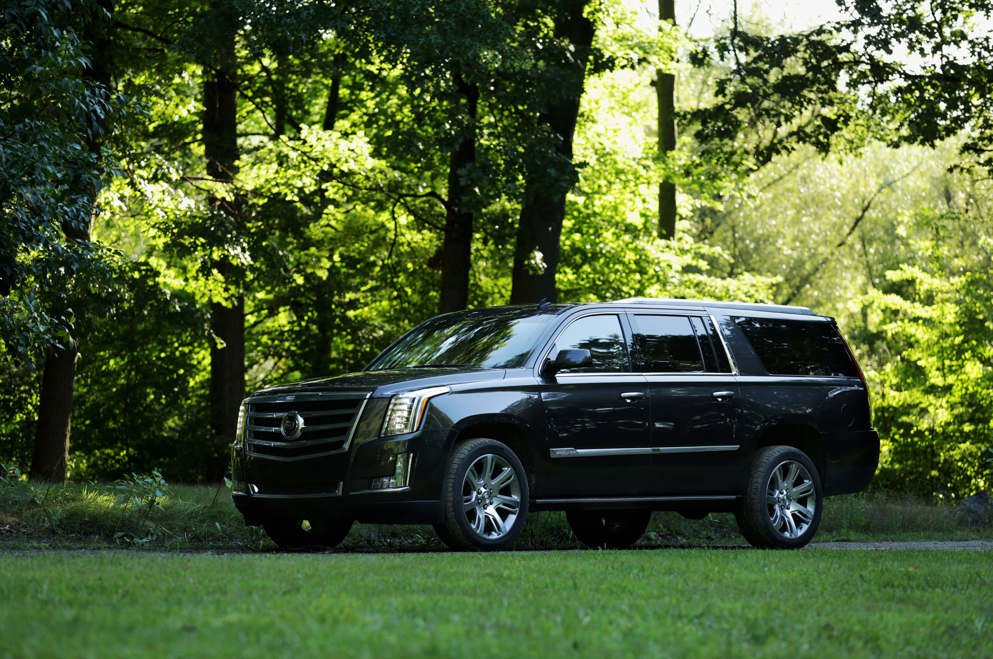 2015 cadillac escalade esv front three quarter view. Cars Review. Best American Auto & Cars Review