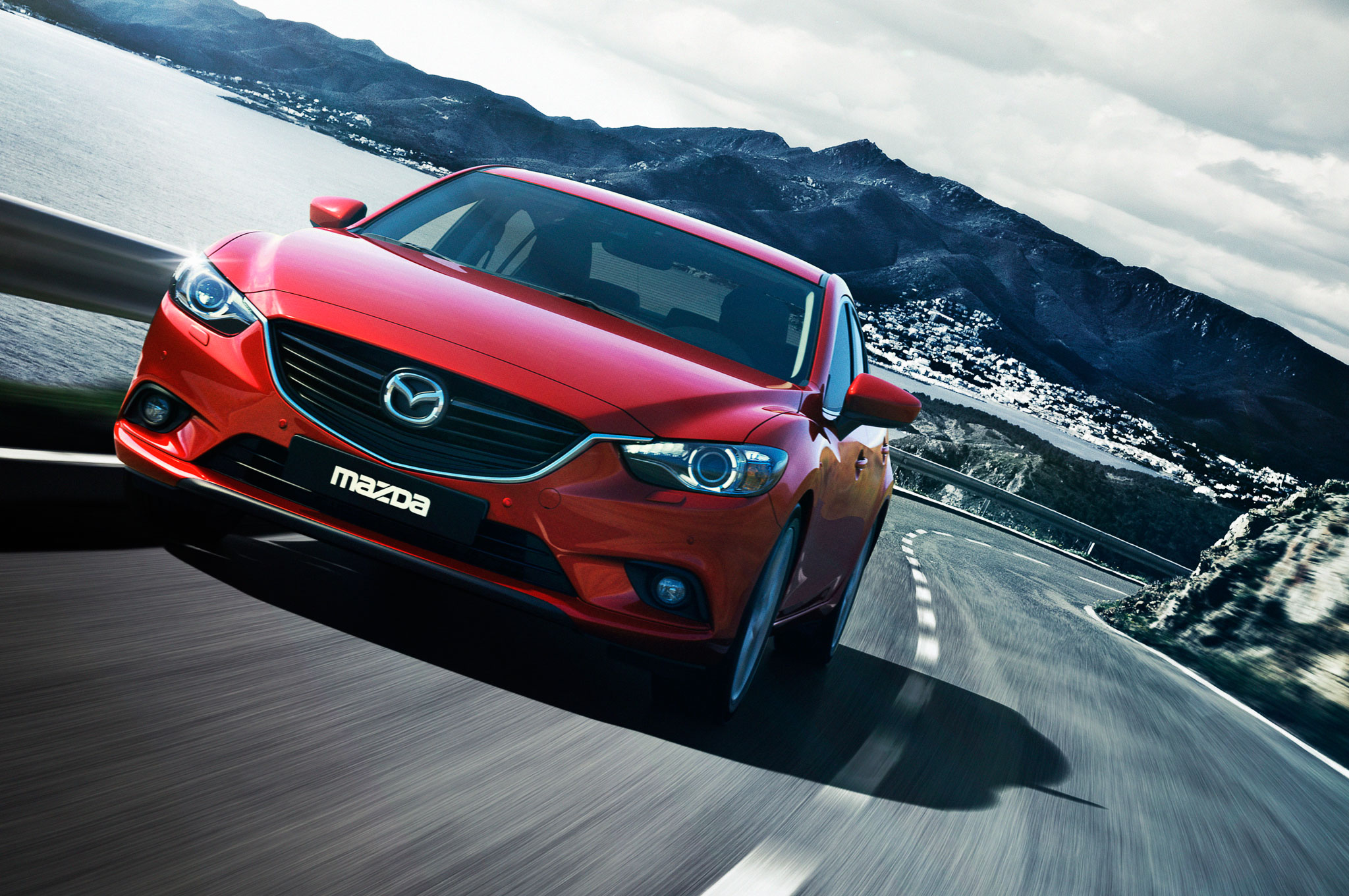 2015 Mazda6 Front Three Quarter View In Motion 2