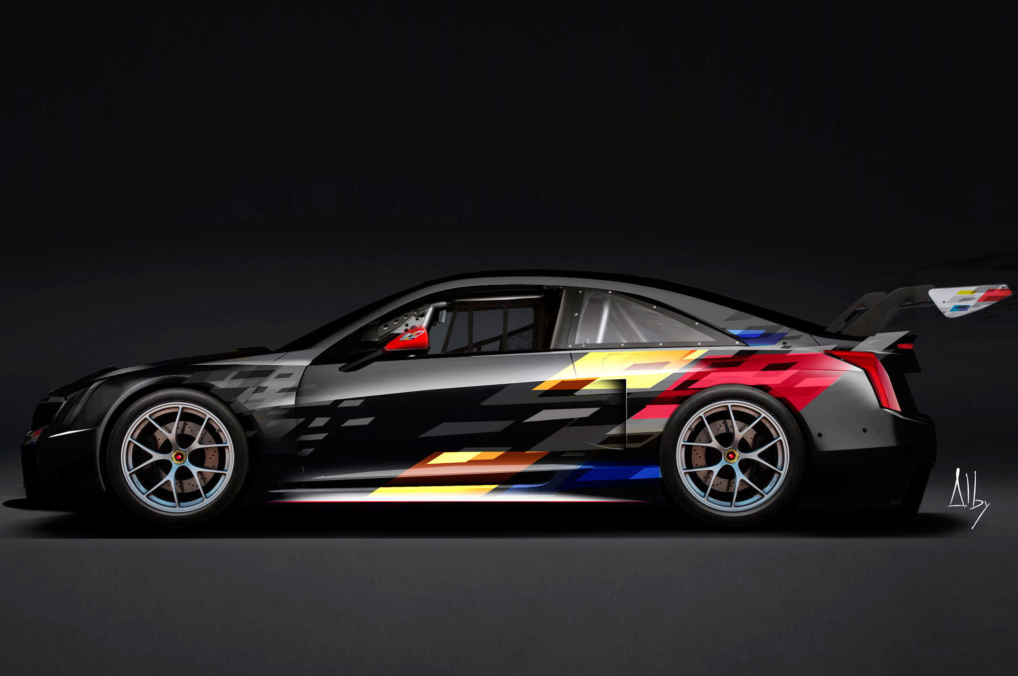 cadillac reveals 2016 ats v r racing car. Black Bedroom Furniture Sets. Home Design Ideas