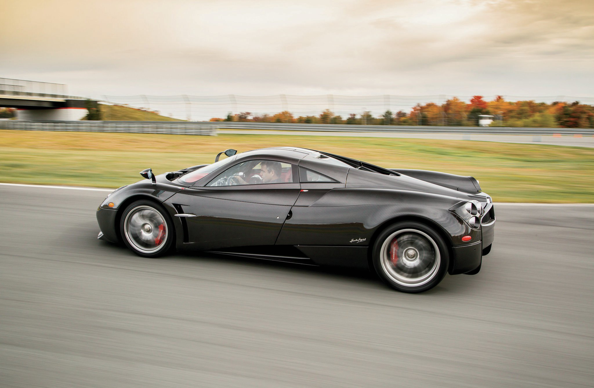 2015 Pagani Huayra Side Profile In Motion1
