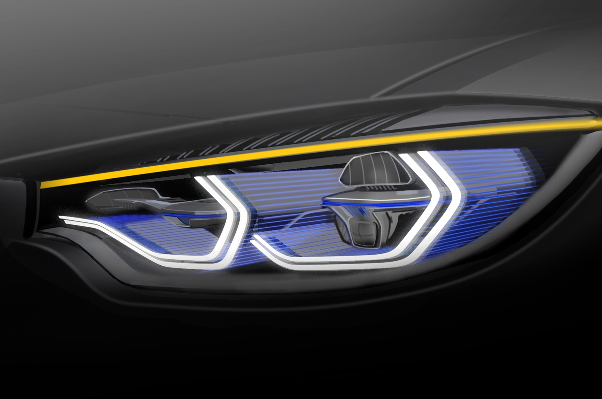 Bmw M4 Concept Iconic Lights Shows Laser And Oled Lighting