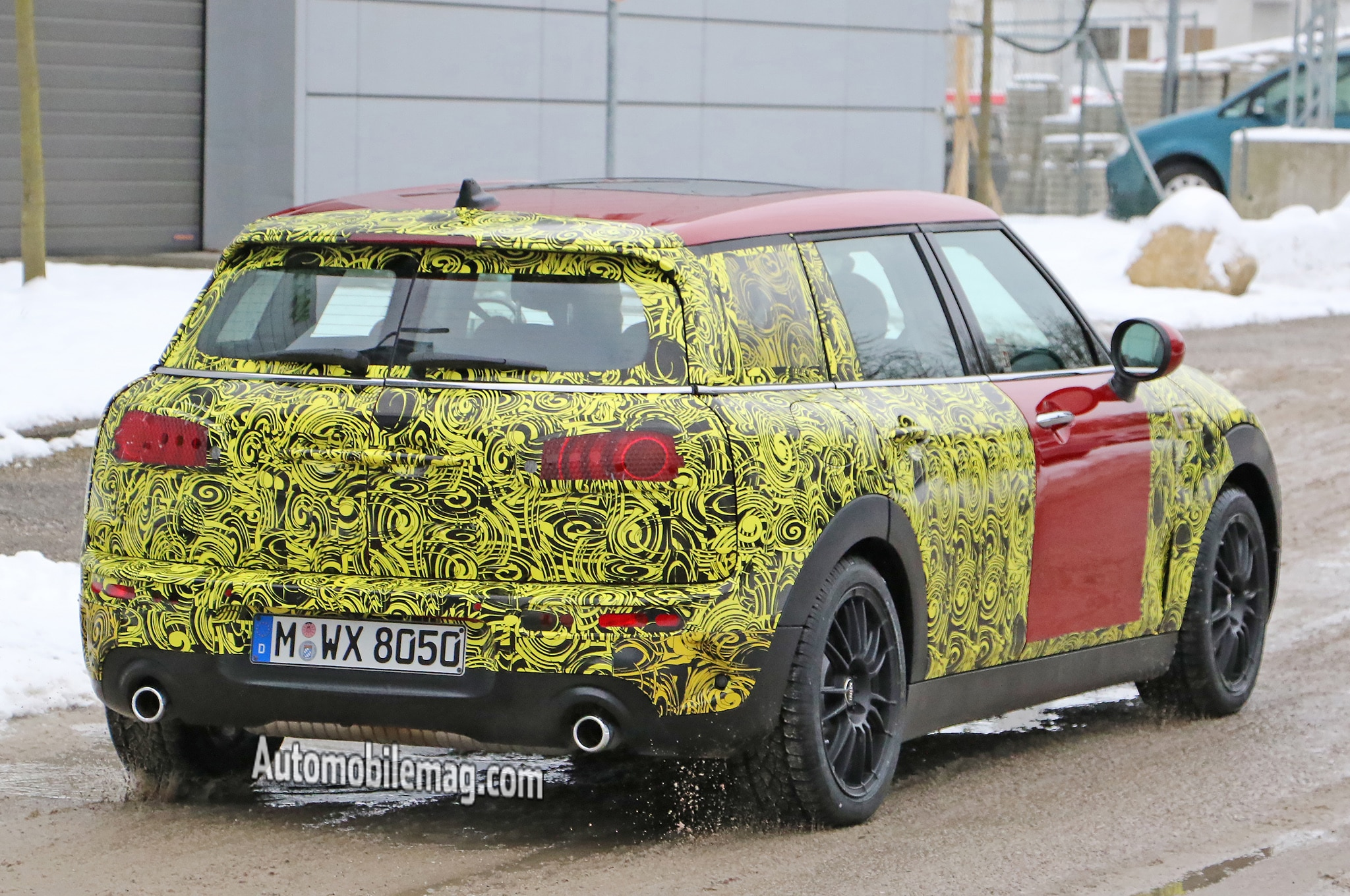 mini cooper clubman spied with less camouflage. Black Bedroom Furniture Sets. Home Design Ideas