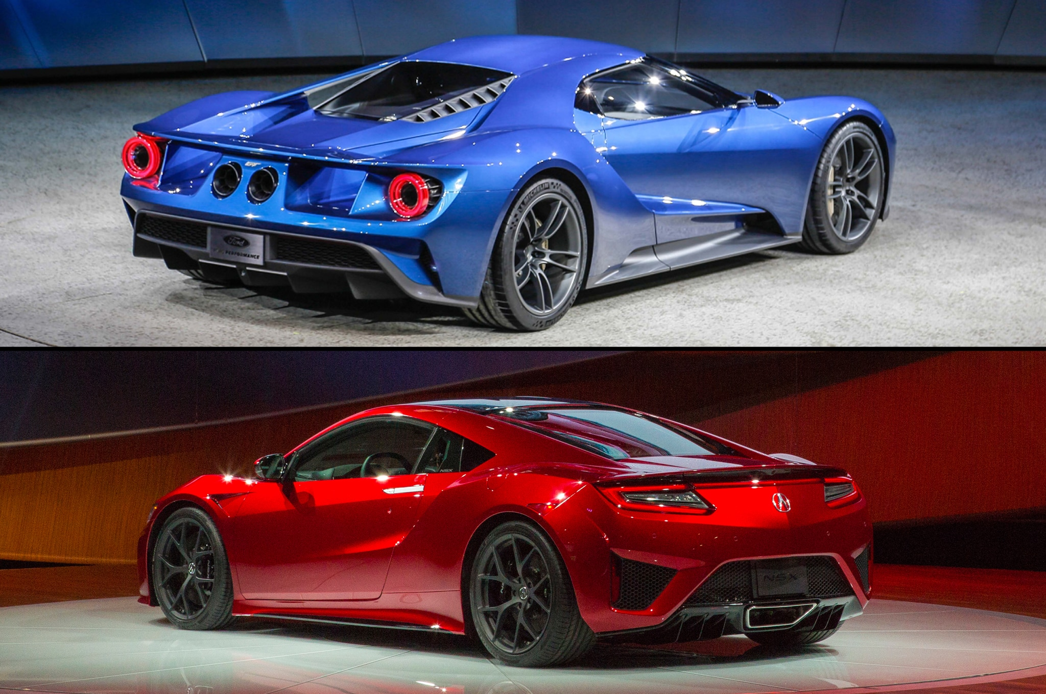 supercar face off ford gt vs acura nsx. Black Bedroom Furniture Sets. Home Design Ideas