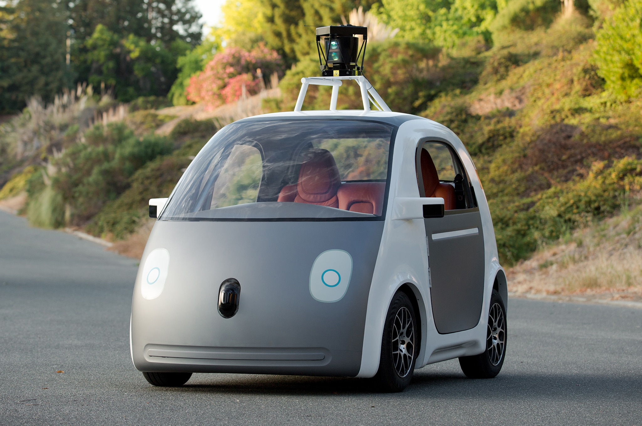 Google Self Driving Car Prototype Front Three Quarter