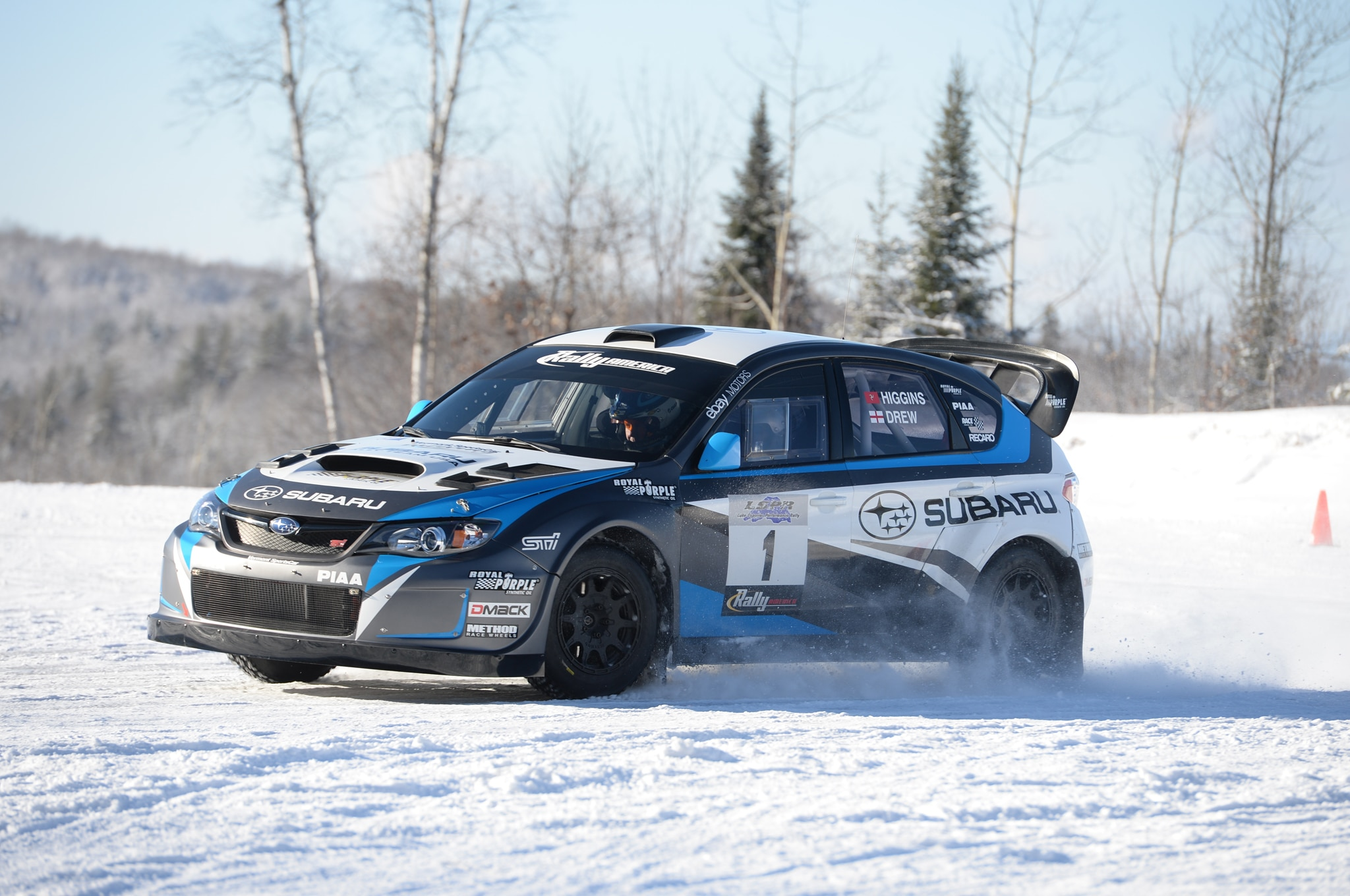 Learning to Drive a Subaru WRX STI Rally Car in the Snow
