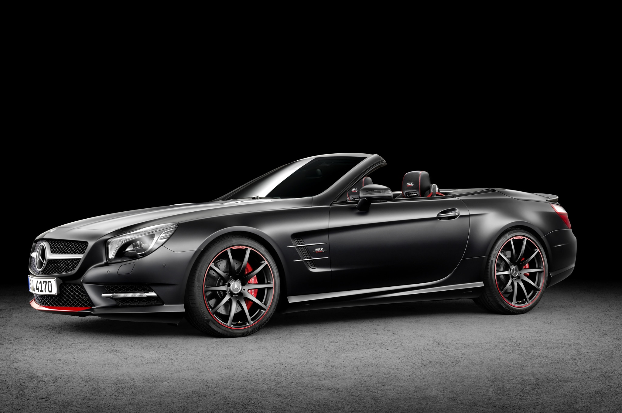 mercedes benz honors 1955 mille miglia win with special sl class. Black Bedroom Furniture Sets. Home Design Ideas