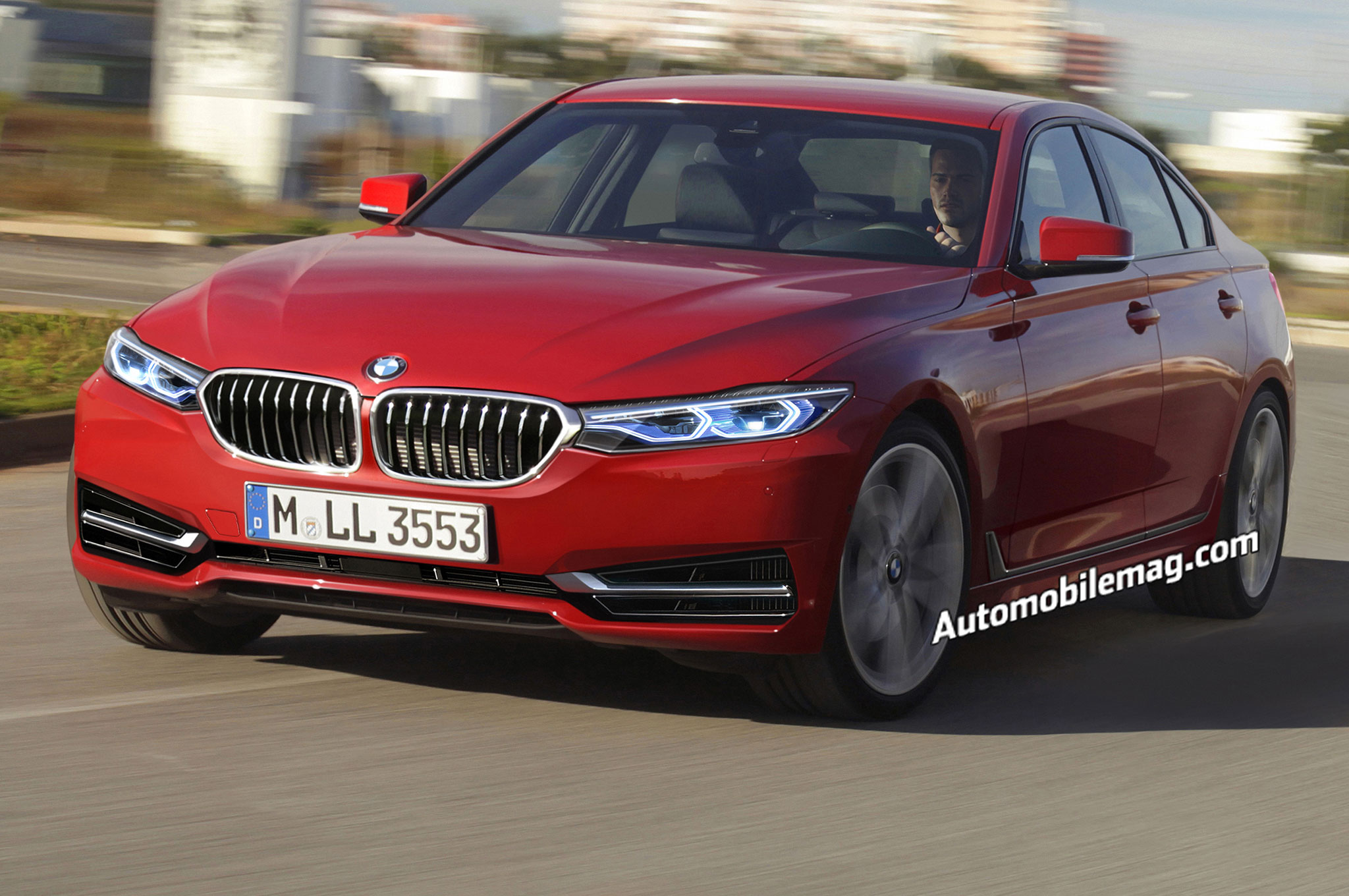 2018 BMW 3 Series Illustration Front Three Quarter