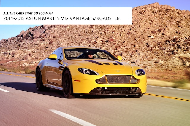 2017 Aston Martin V12 Vantage S Roadster Top Sd 205 Mph Don T Call It A Baby Be Coupe Or Convertible The Has