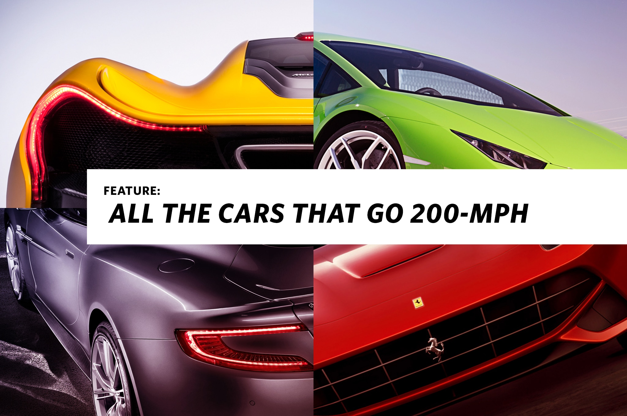 All The Cars That Go 200 MPH Lead