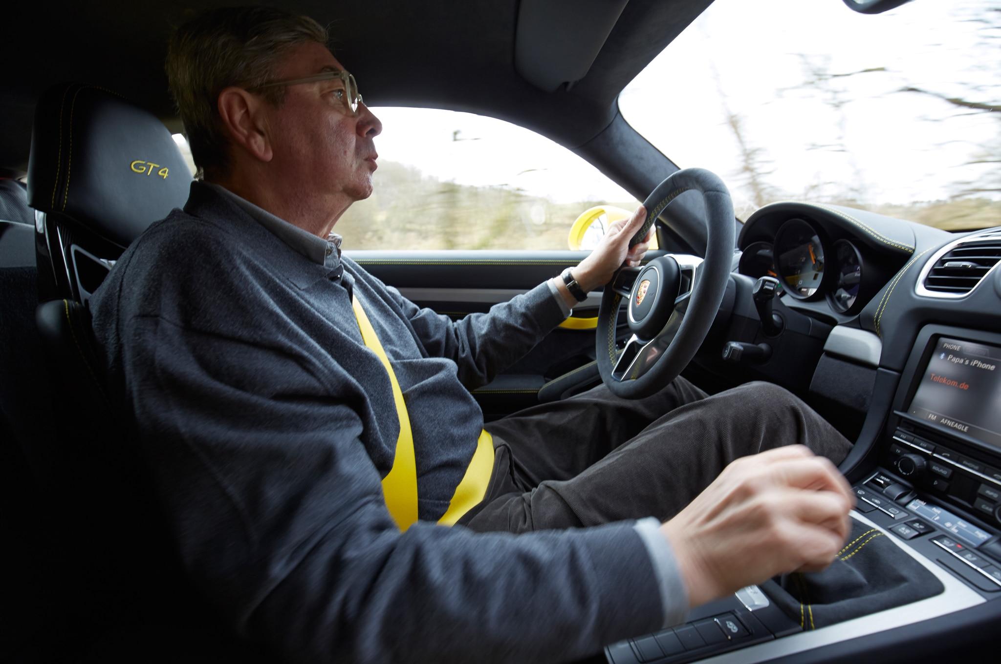 2016 porsche cayman gt4 georg kacher driving 03 - 2015 Porsche Cayman Gt4 Interior
