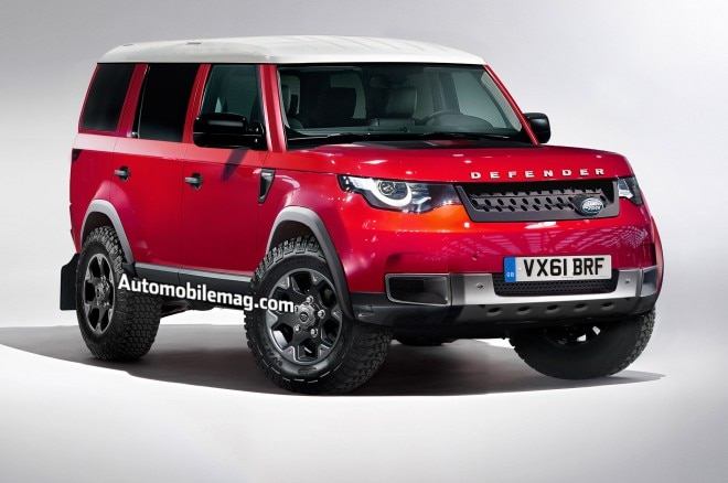 2019 Land Rover Defender Illustration Front Three Quarter 660x438