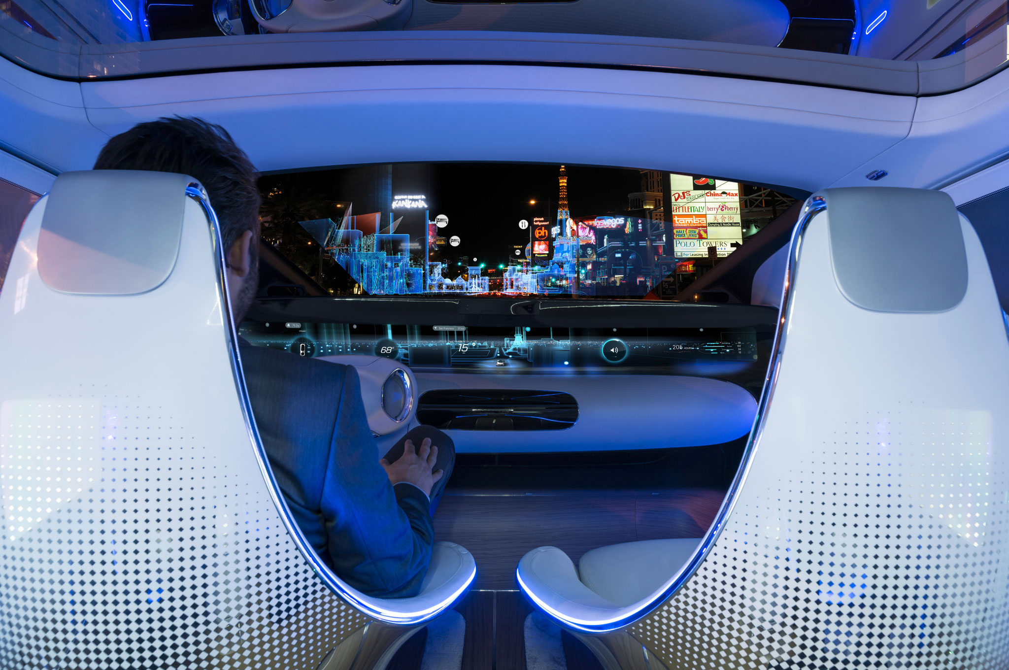 Riding in the Mercedes-Benz F 015 Luxury in Motion Concept ... | {Auto cockpit mercedes 42}