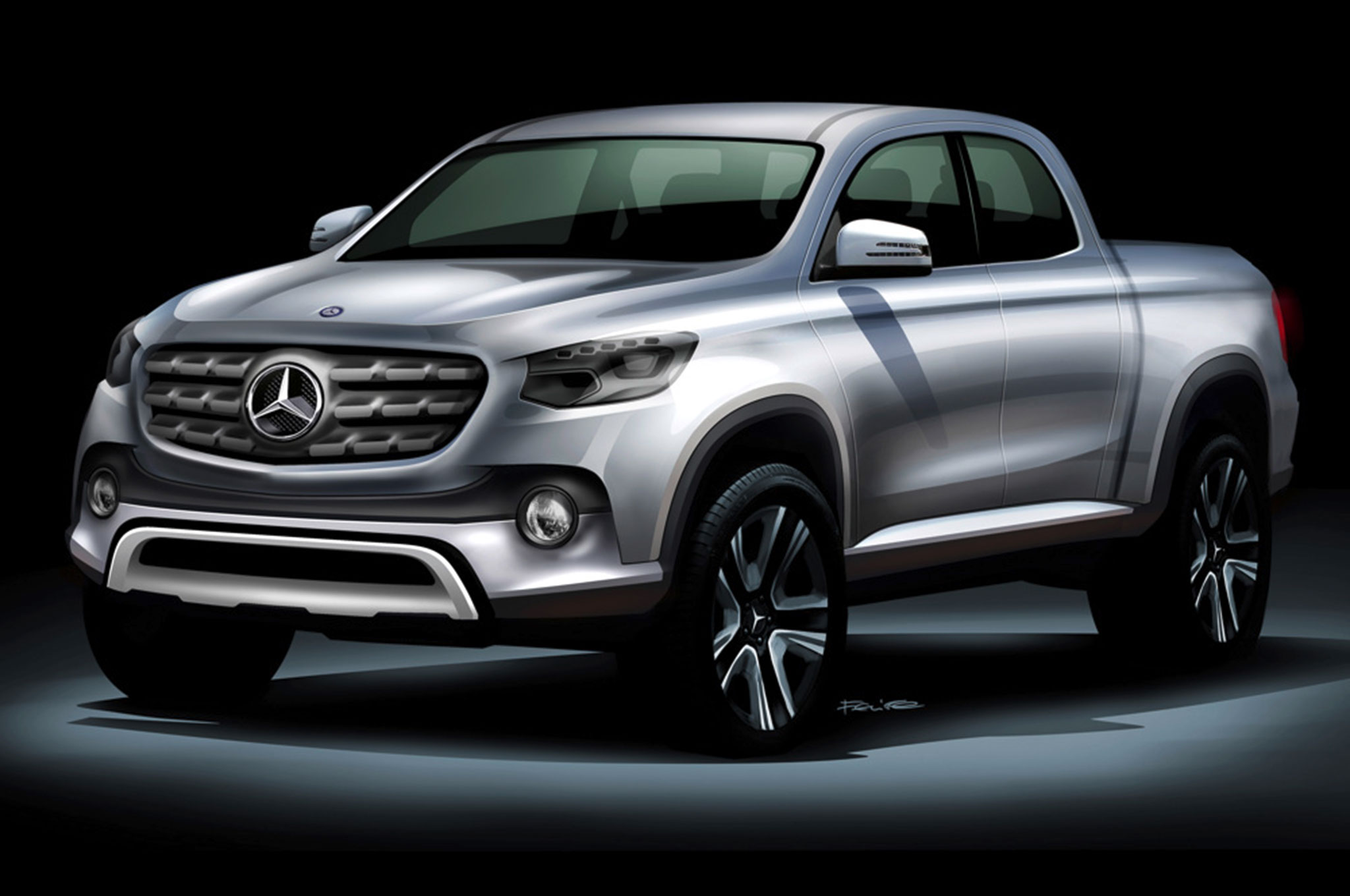 Mercedes benz announces plan for midsize pickup truck for Mercedes benz pickup truck