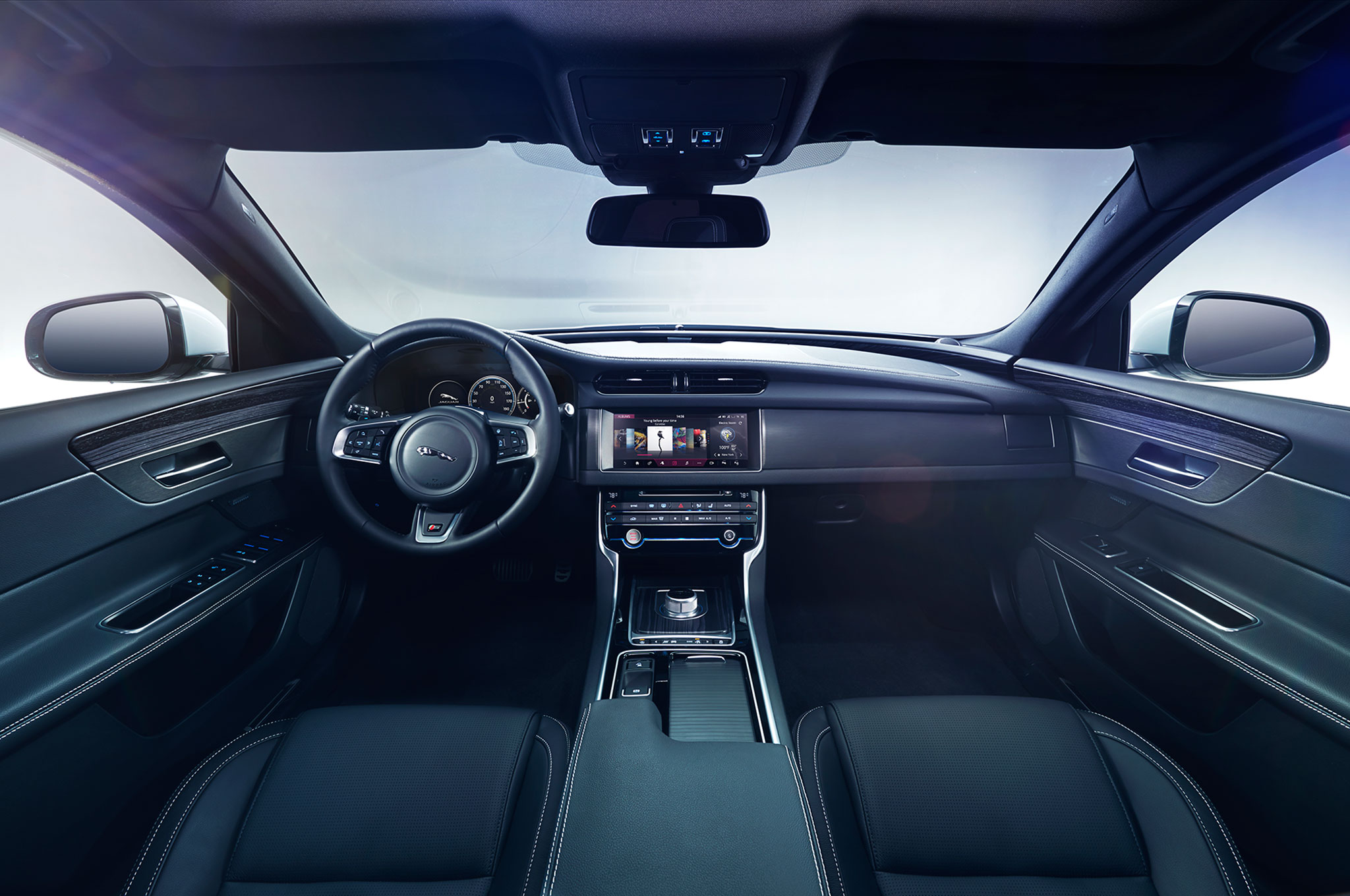 jaguar car xf new interior inside official first news the magazine at look s by pictures