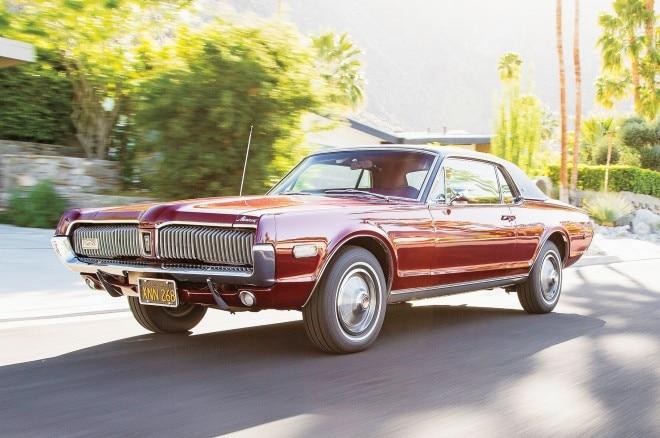 1967 1968 Mercury Cougar Front Three Quarter In Motion 660x438