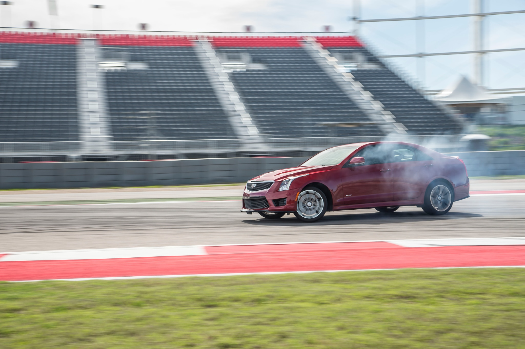 2016 Cadillac ATS V Tire Burnout 031