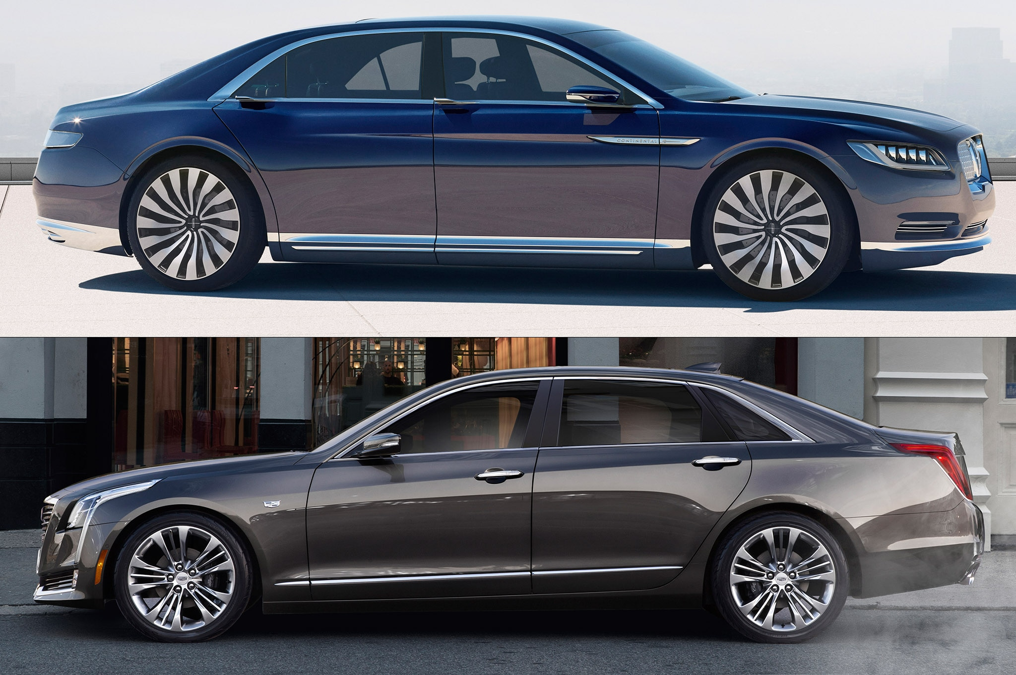 american luxury face off cadillac ct6 vs lincoln continental concept. Black Bedroom Furniture Sets. Home Design Ideas