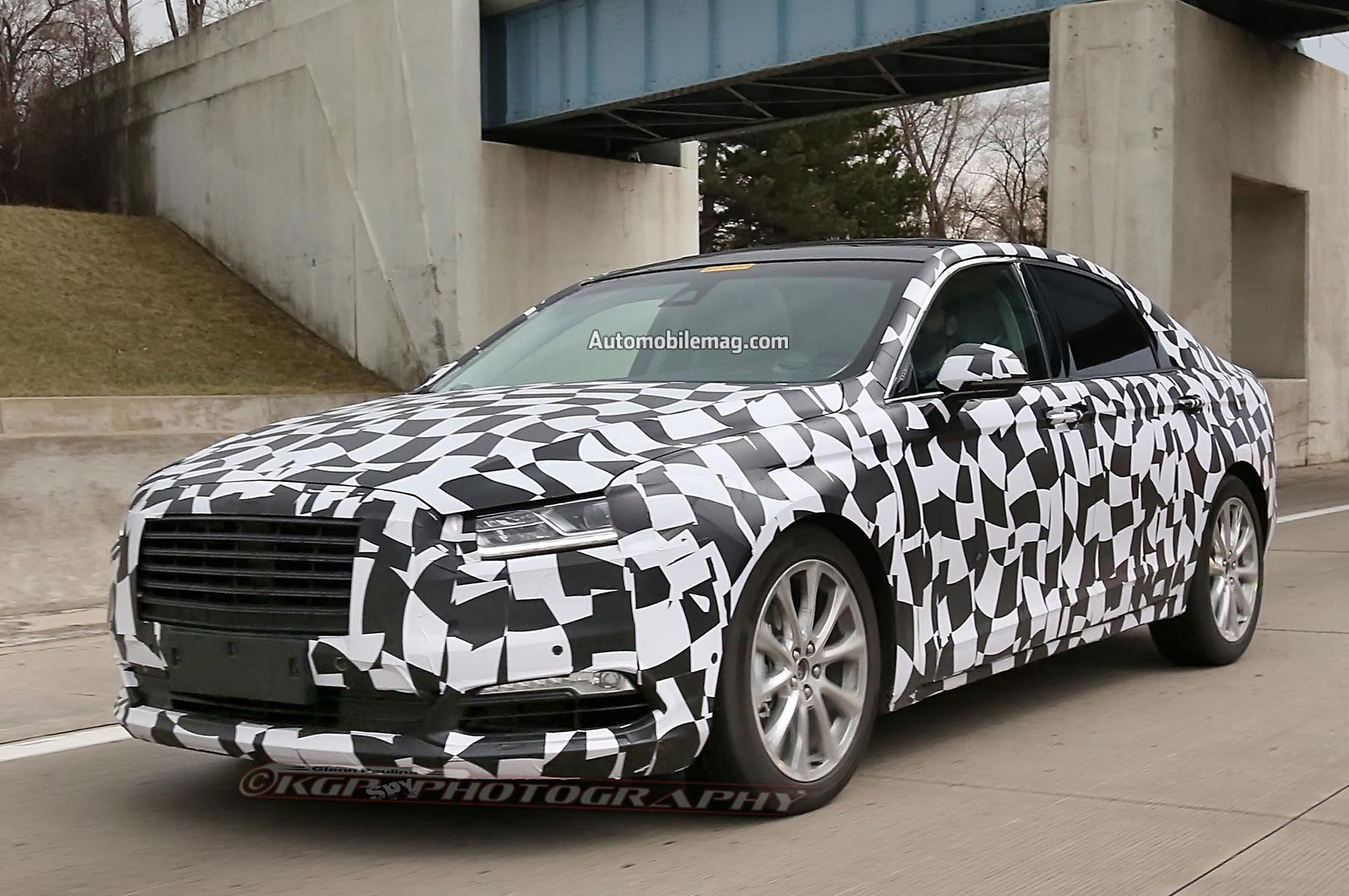 2016 ford taurus prototype spied in detroit. Black Bedroom Furniture Sets. Home Design Ideas