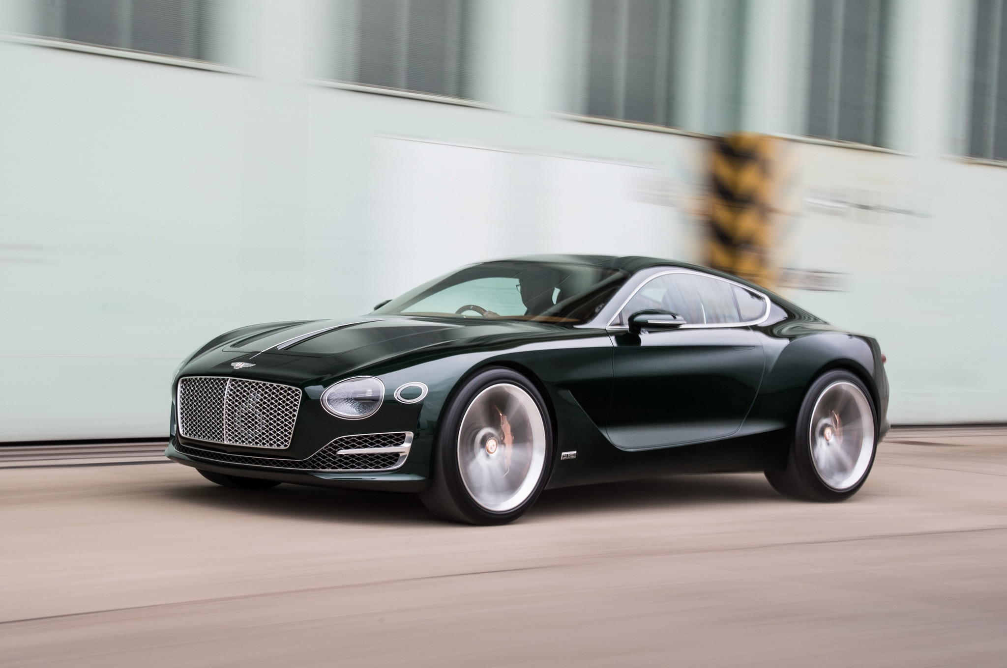 World exclusive at the wheel of the bentley exp 10 speed 6 for The bentley