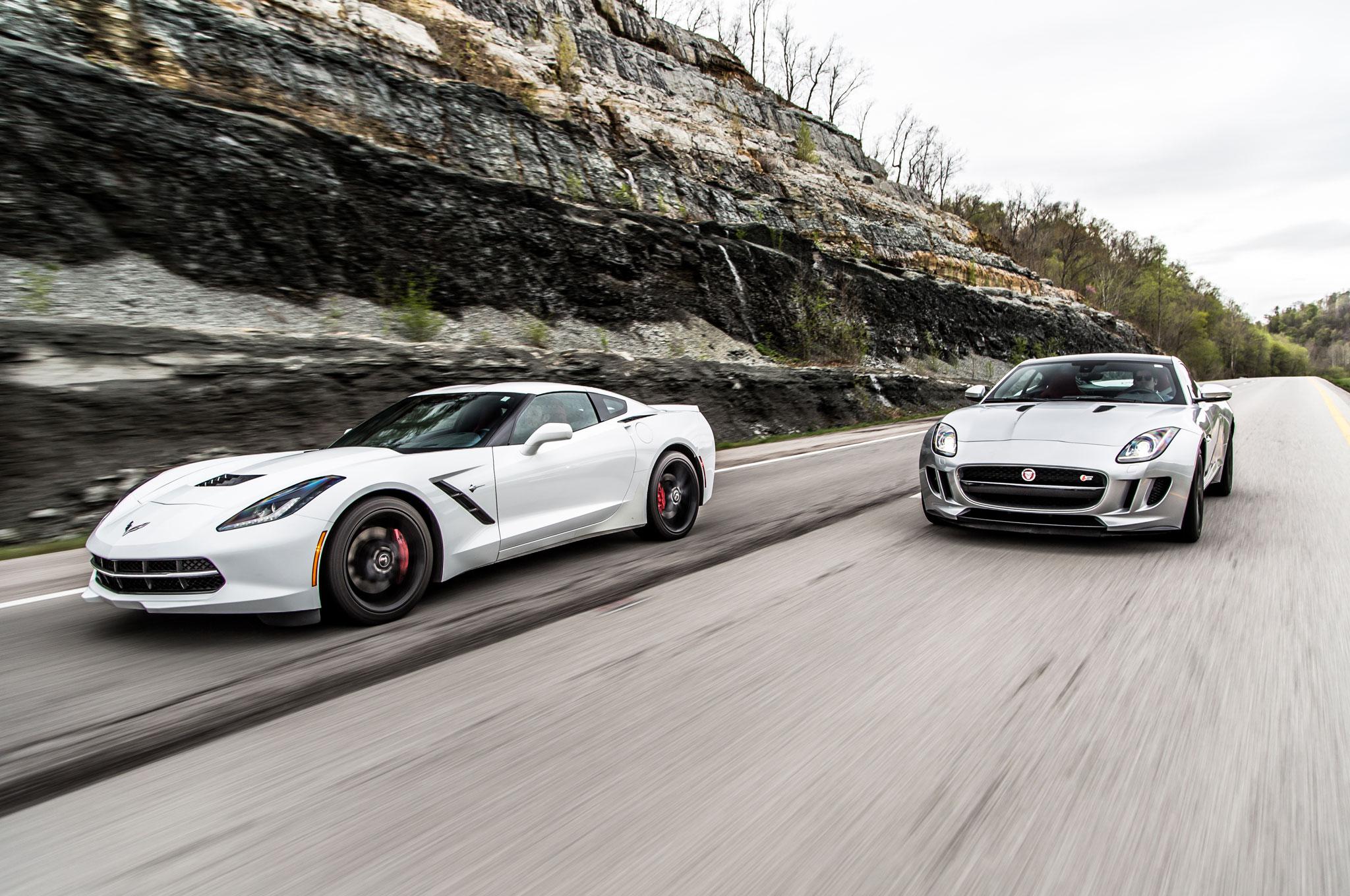 2014 Jaguar F Type S Coupe And 2015 Chevrolet Corvette Stingray Z51 22