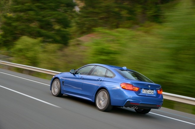 2015 BMW 428i Gran Coupe rear side view blurred background