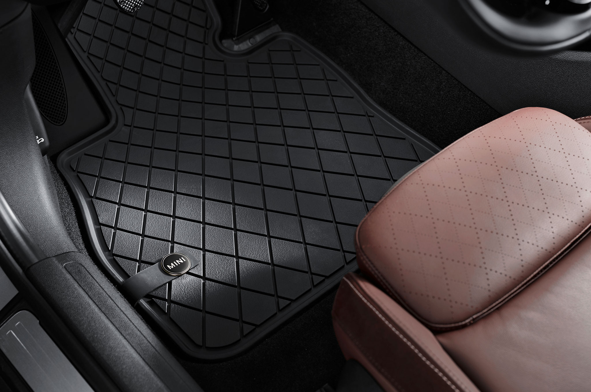 mats black mini cloth cooper l fancy floor mat