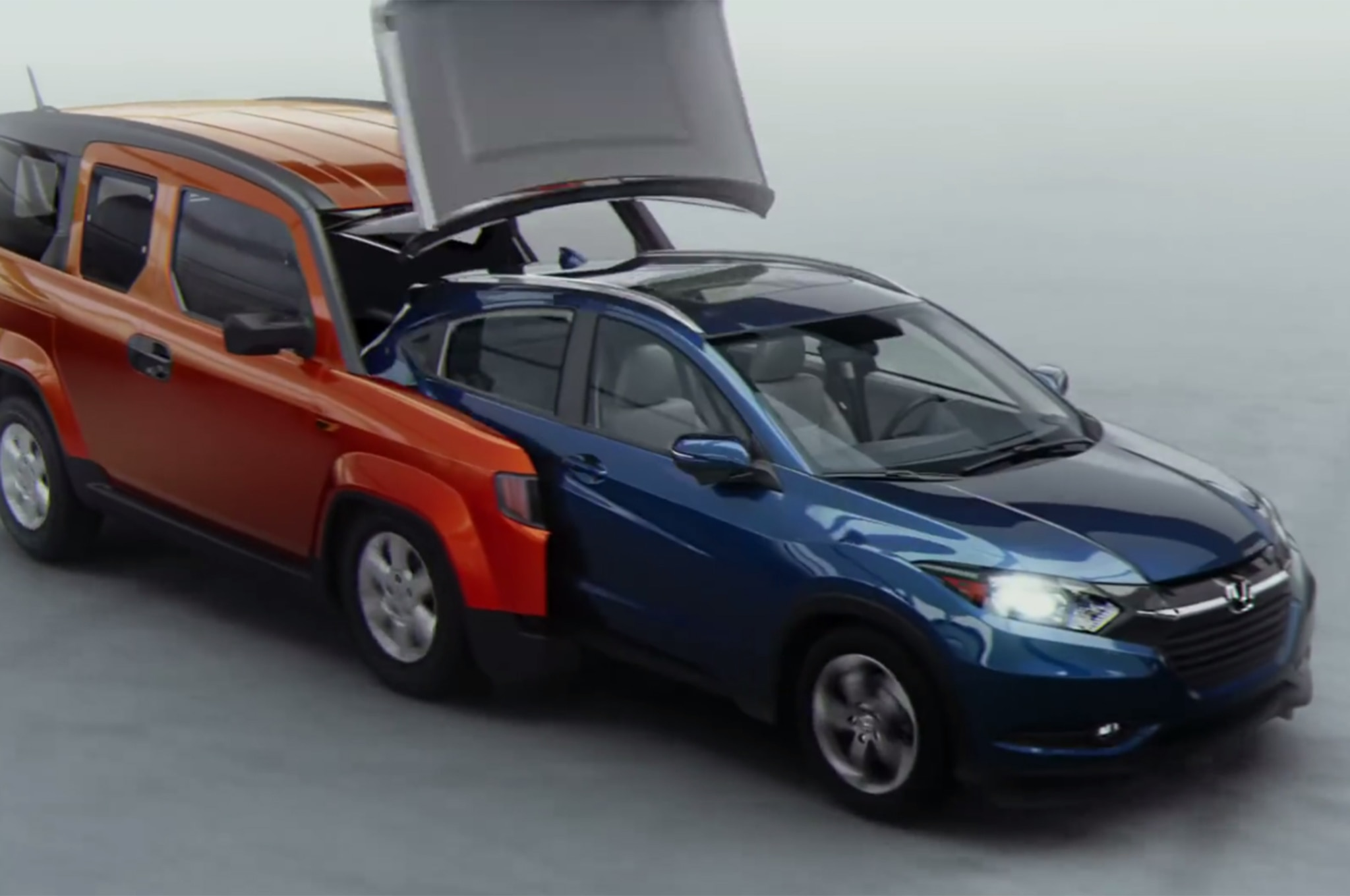 Watch 7 Historic Hondas Transform Into The 2016 Honda Hr V